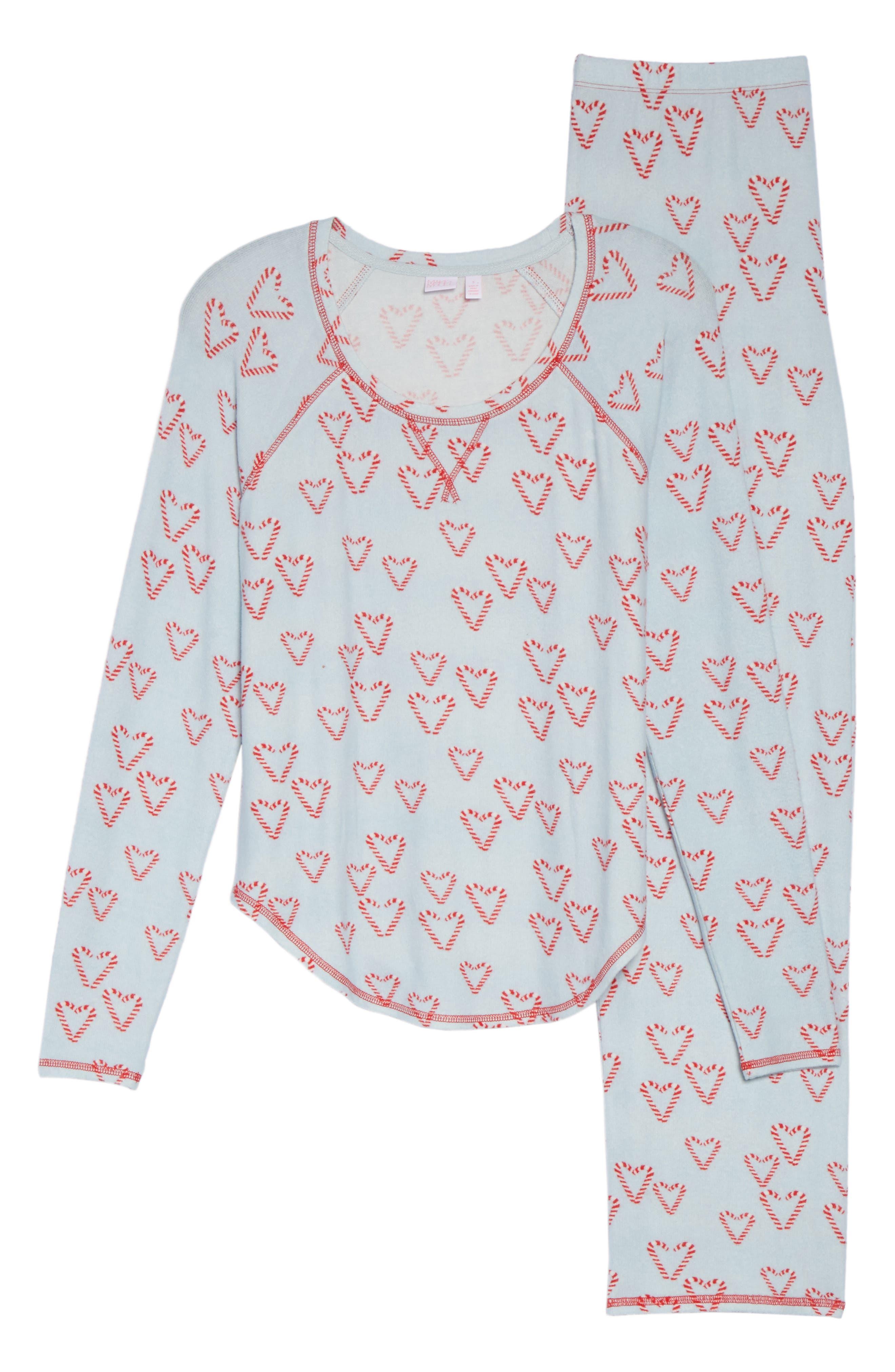 Alternate Image 5  - Make + Model Knit Girlfriend Pajamas & Eye Mask