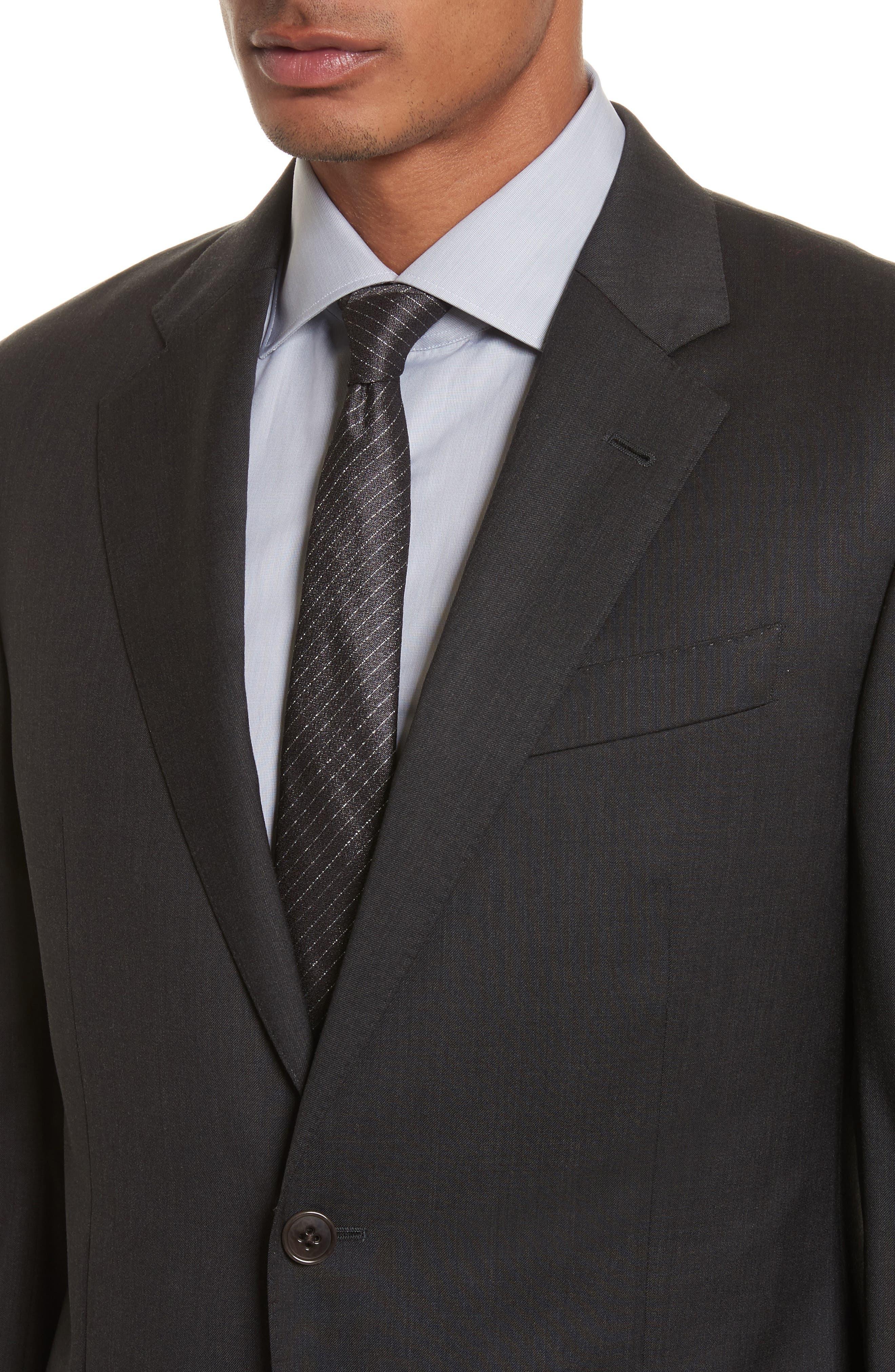 'G-Line' Trim Fit Solid Wool Suit,                             Alternate thumbnail 5, color,                             Charcoal
