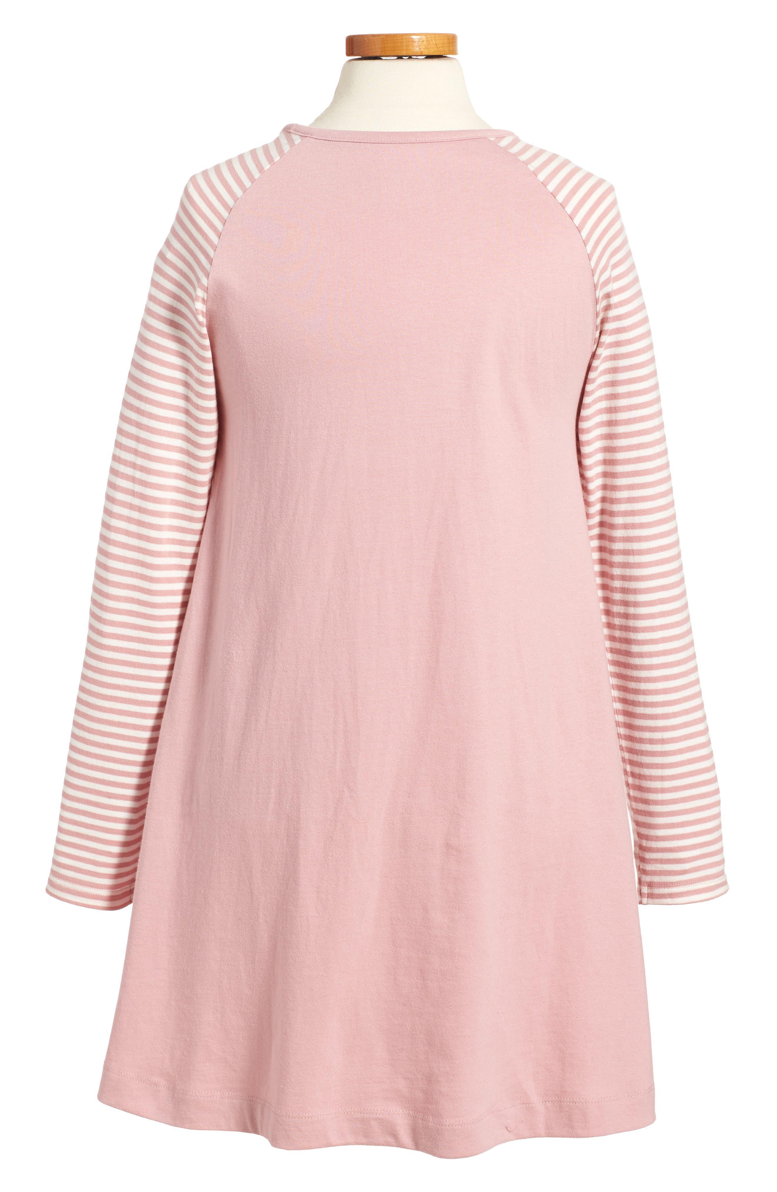 Big Appliqué Jersey Dress,                             Alternate thumbnail 2, color,                             Vintage Pink Robin