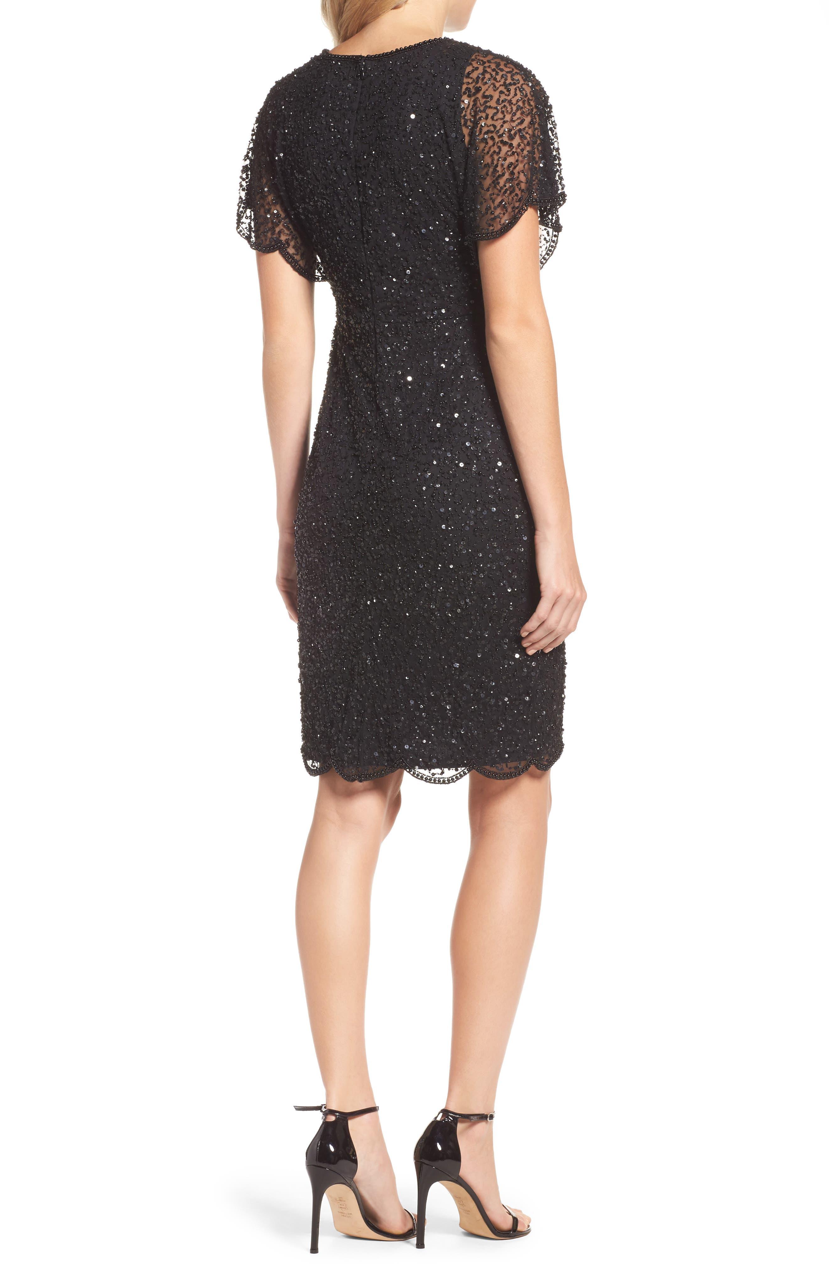 Alternate Image 2  - Adrianna Papell Embellished Flutter Sleeve Cocktail Dress