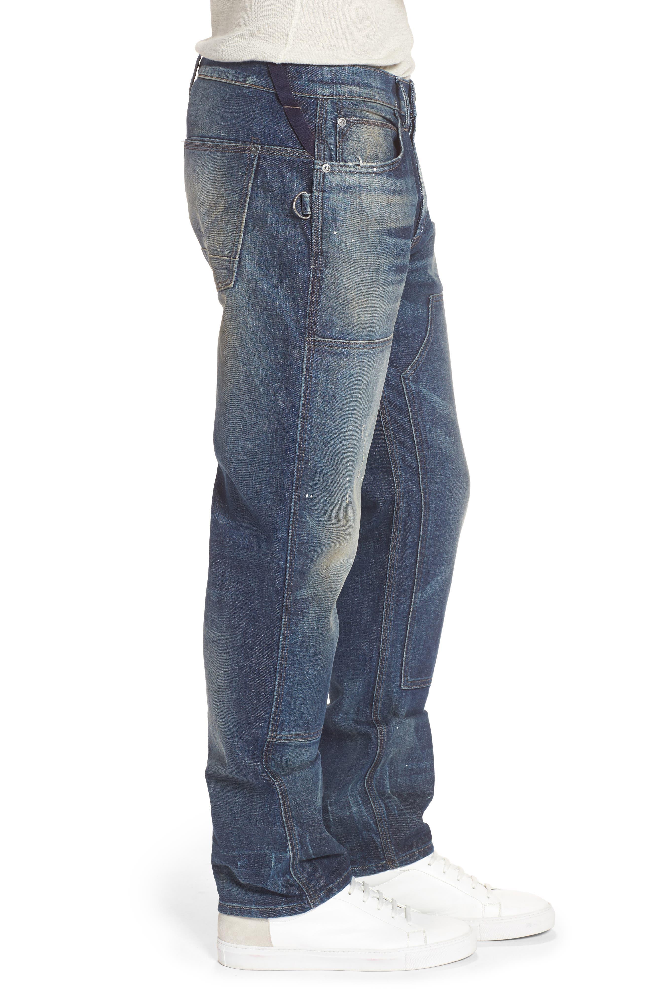 Hunter Straight Fit Jeans,                             Alternate thumbnail 3, color,                             Virus