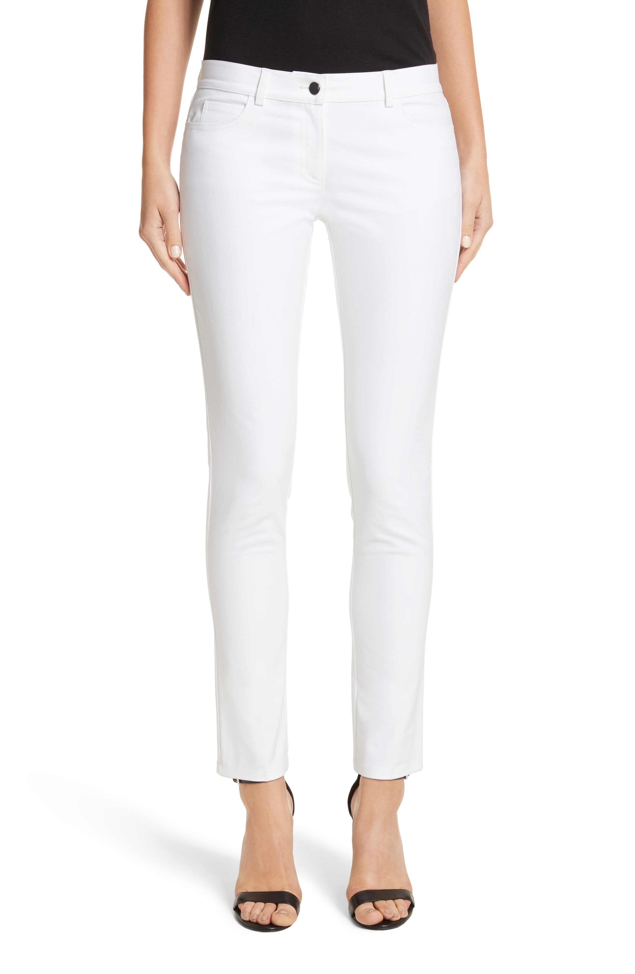 Alternate Image 1 Selected - Michael Kors Samantha Skinny Jeans (Optic White)