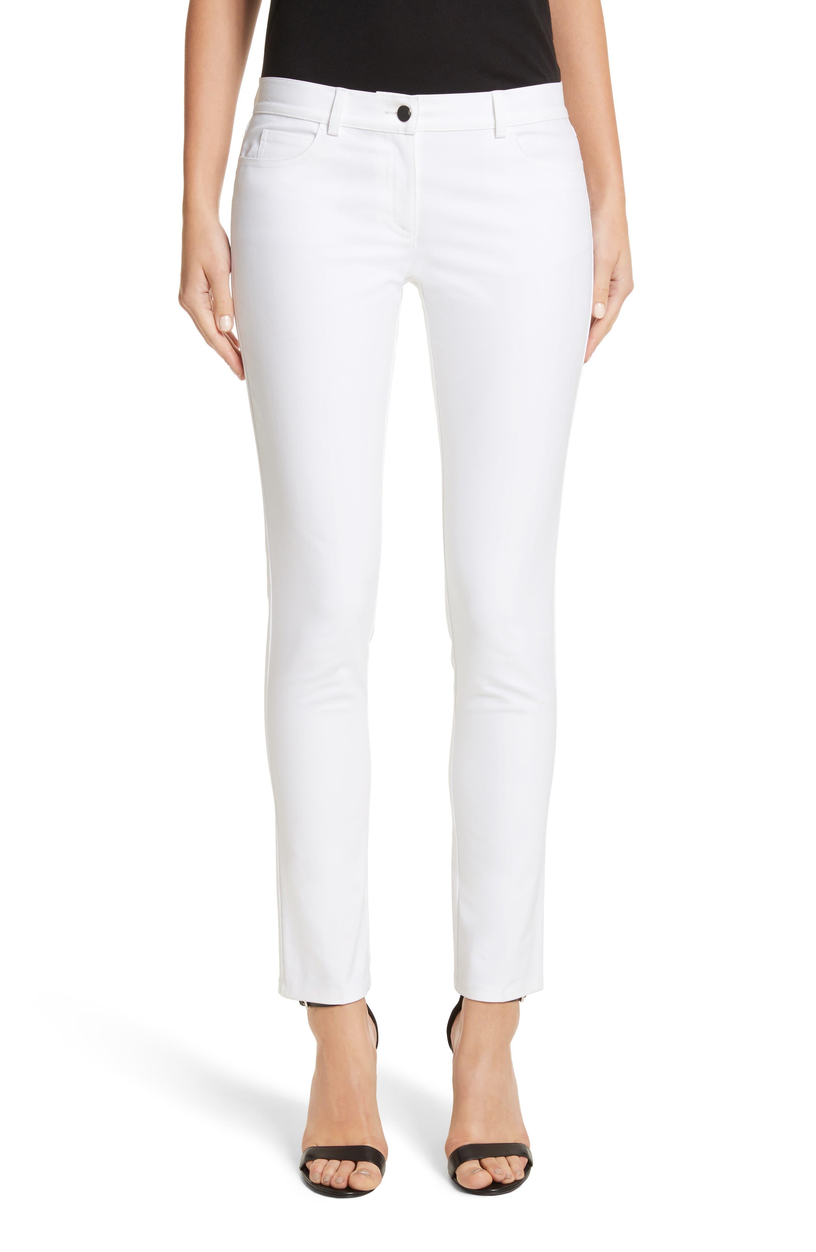 Main Image - Michael Kors Samantha Skinny Jeans (Optic White)