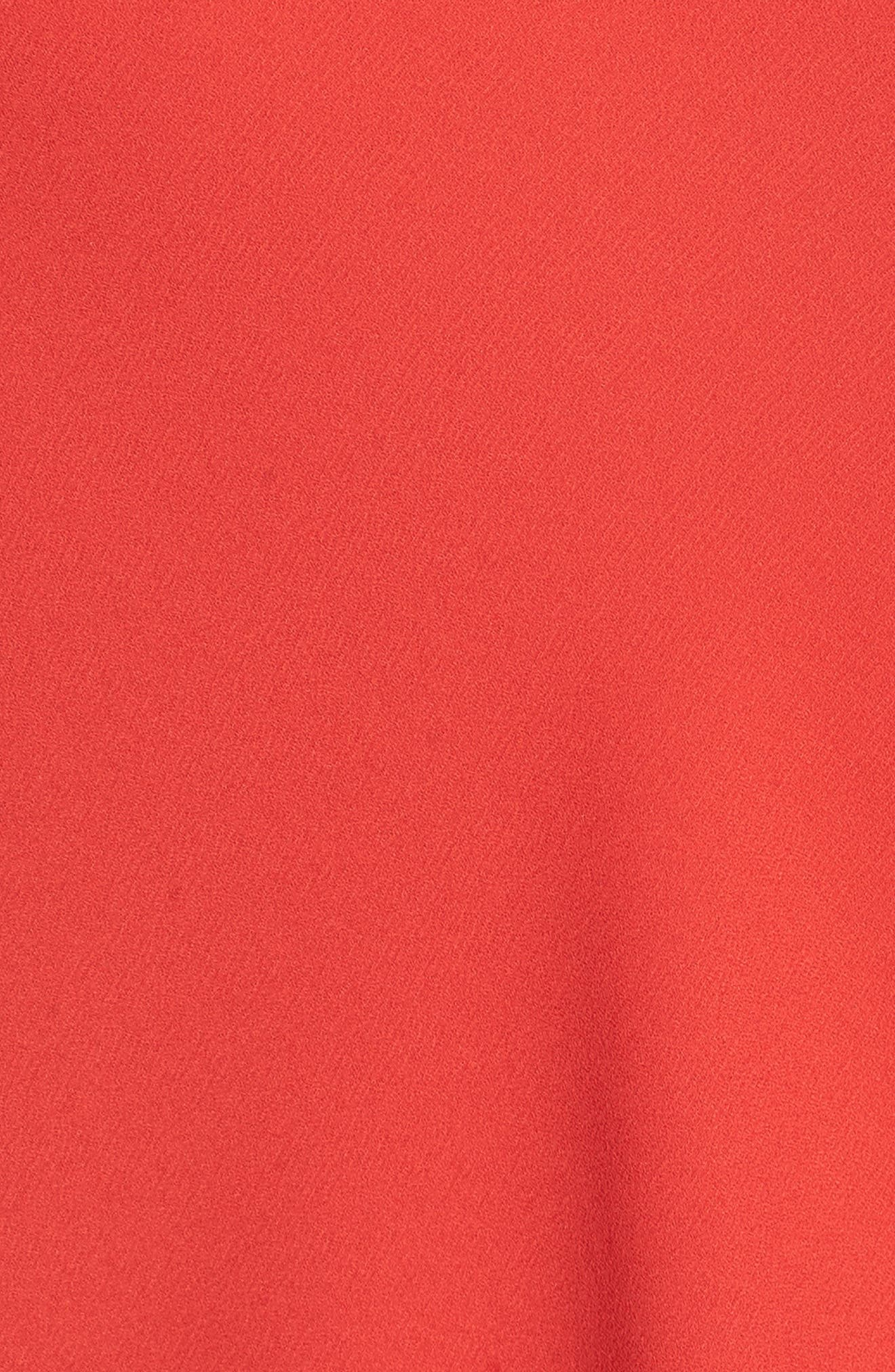 Asymmetrical Sleeveless Top,                             Alternate thumbnail 5, color,                             Red Mars