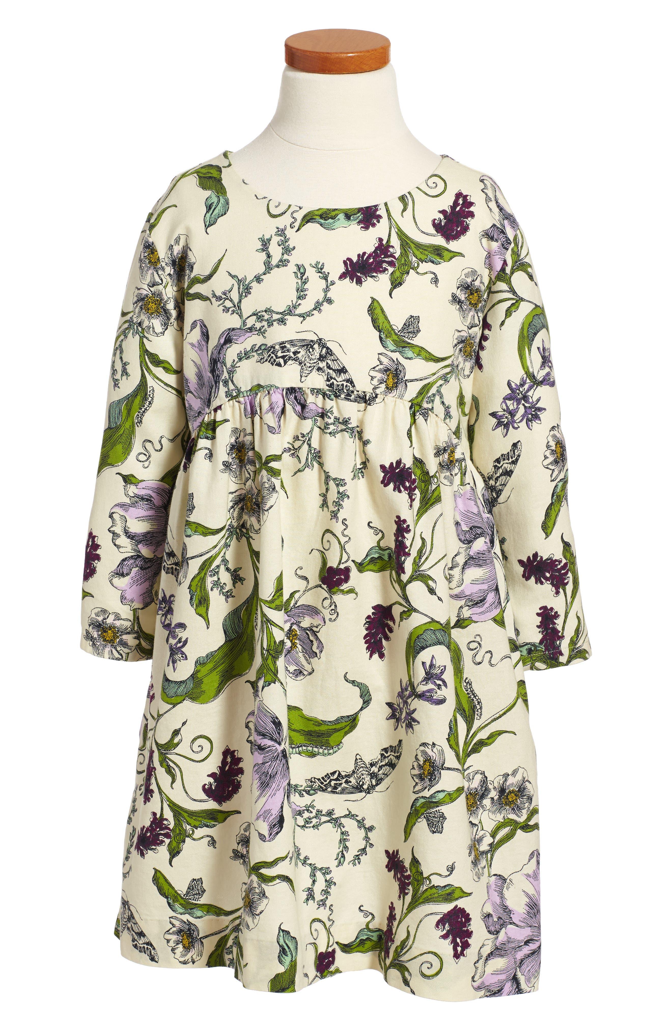 Wallpaper Party Dress,                             Main thumbnail 1, color,                             Cream