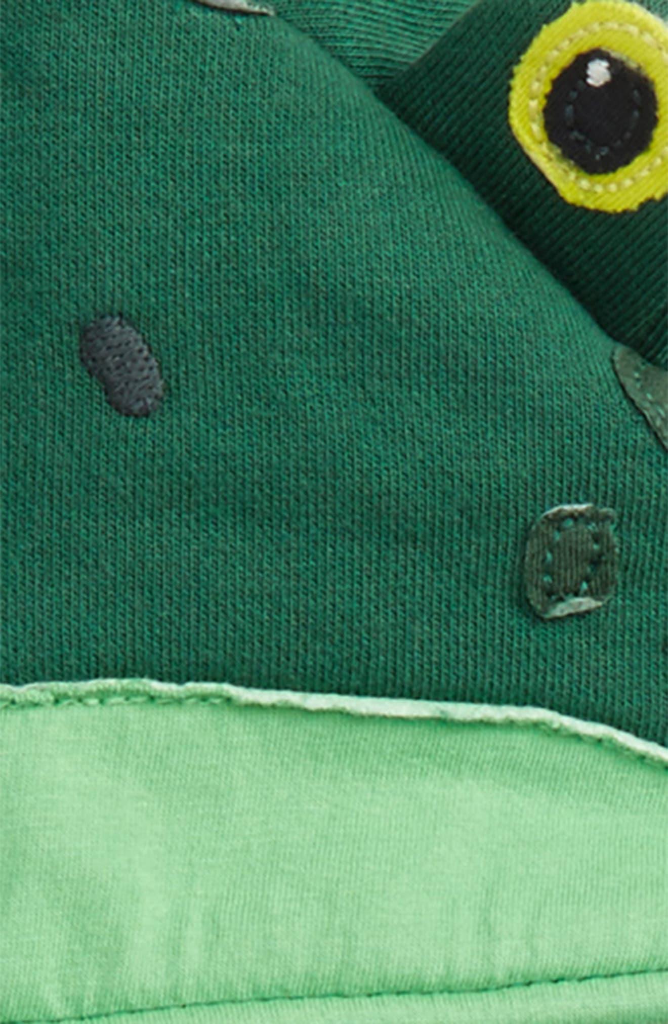 Animal Zip Hoodie,                             Alternate thumbnail 2, color,                             Timber Green Frog
