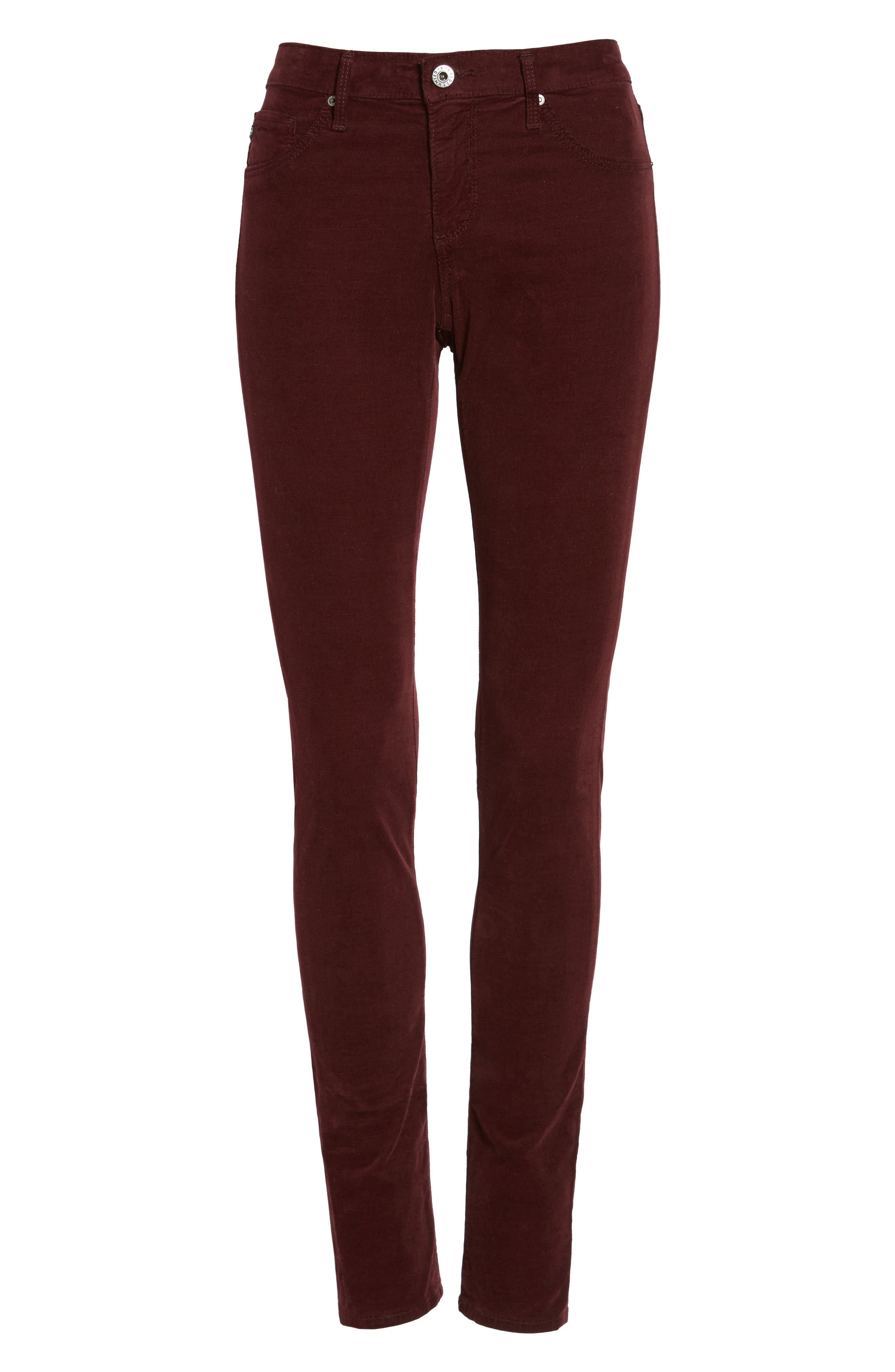 The Legging Super Skinny Corduroy Pants,                             Alternate thumbnail 6, color,                             Deep Currant
