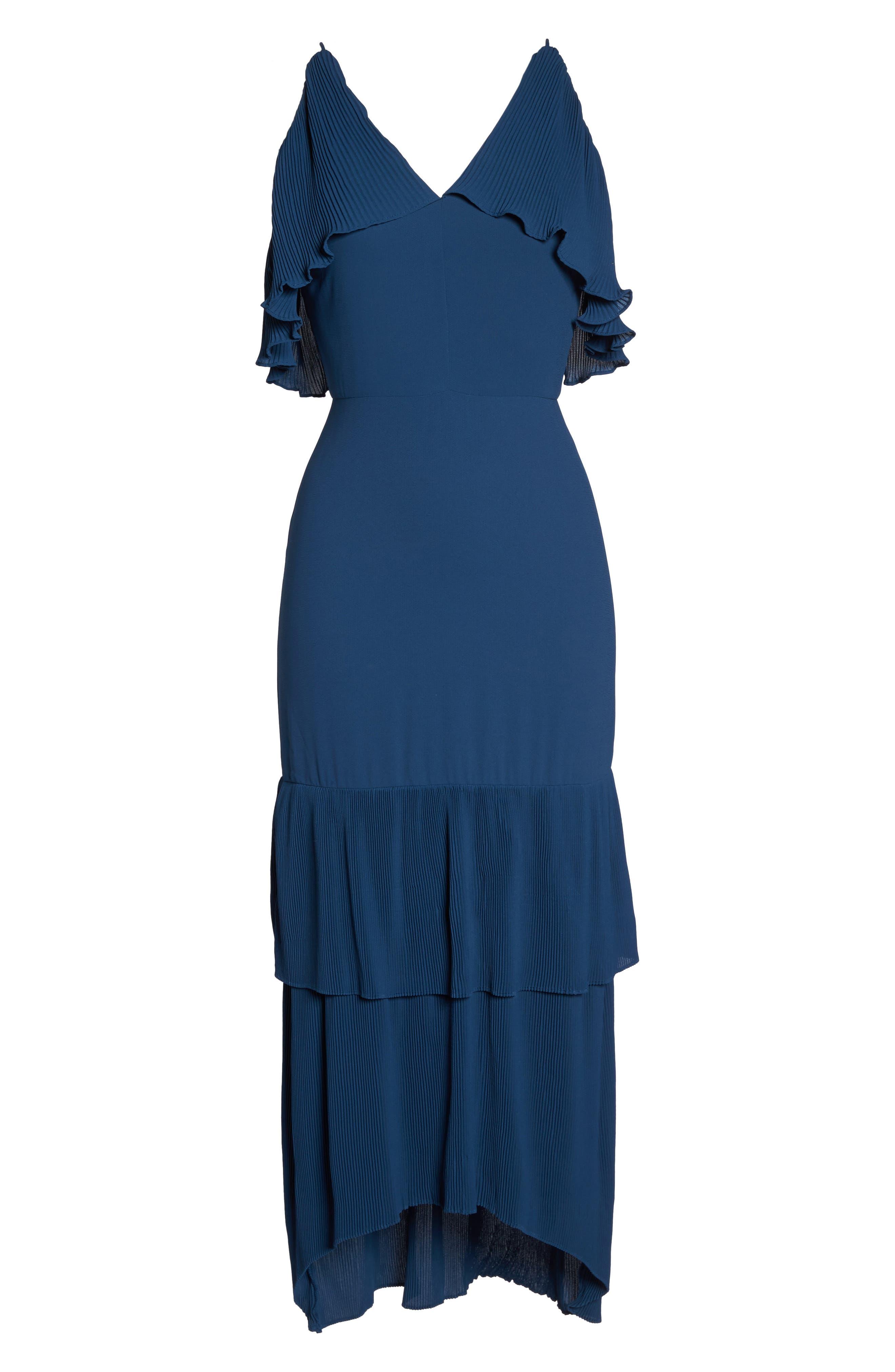 Alternate Image 6  - Cooper St Kate Pleated Ruffle Midi Dress
