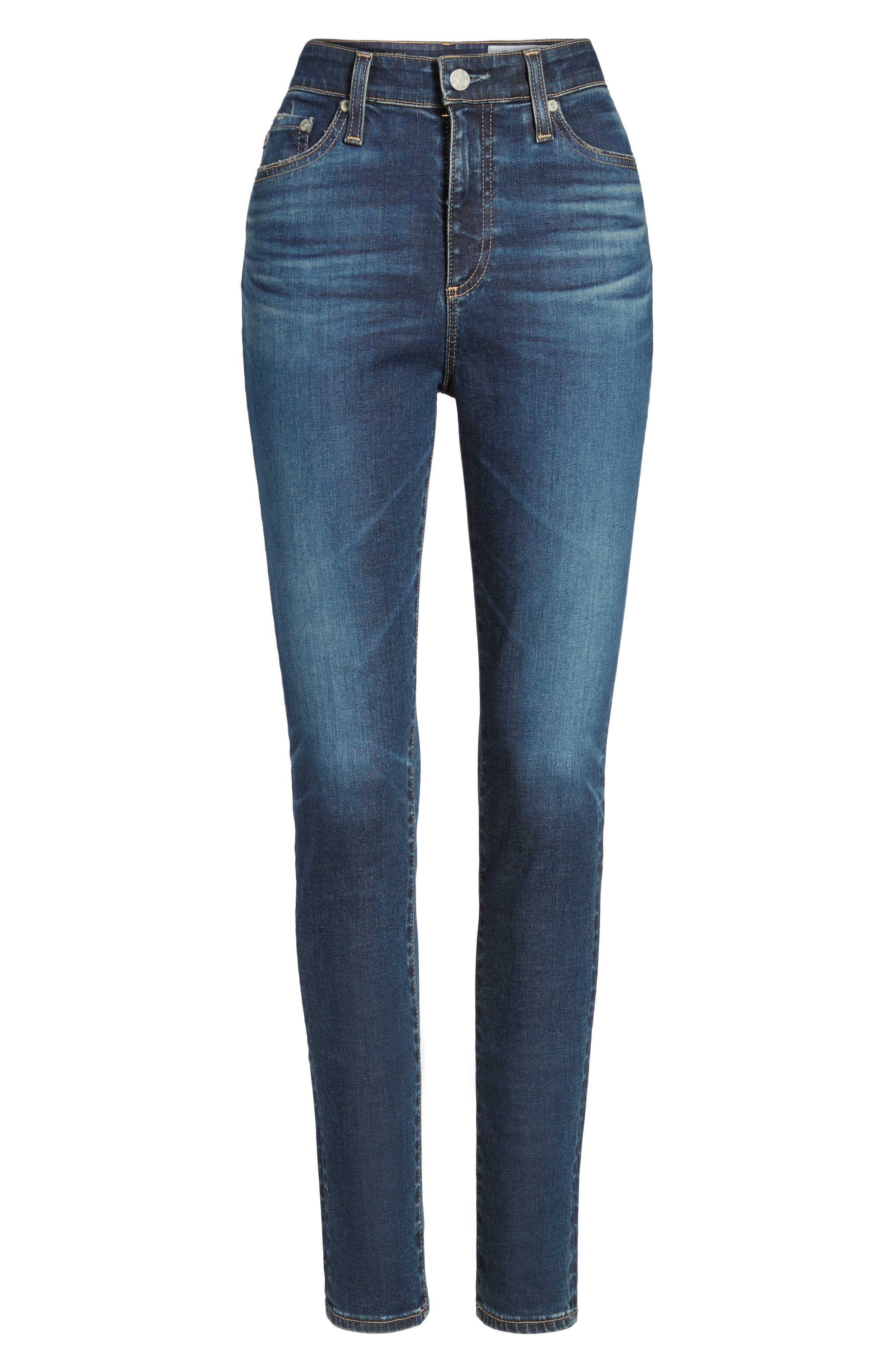 Alternate Image 6  - AG Mila High Rise Skinny Jeans (06 Years Songbird)