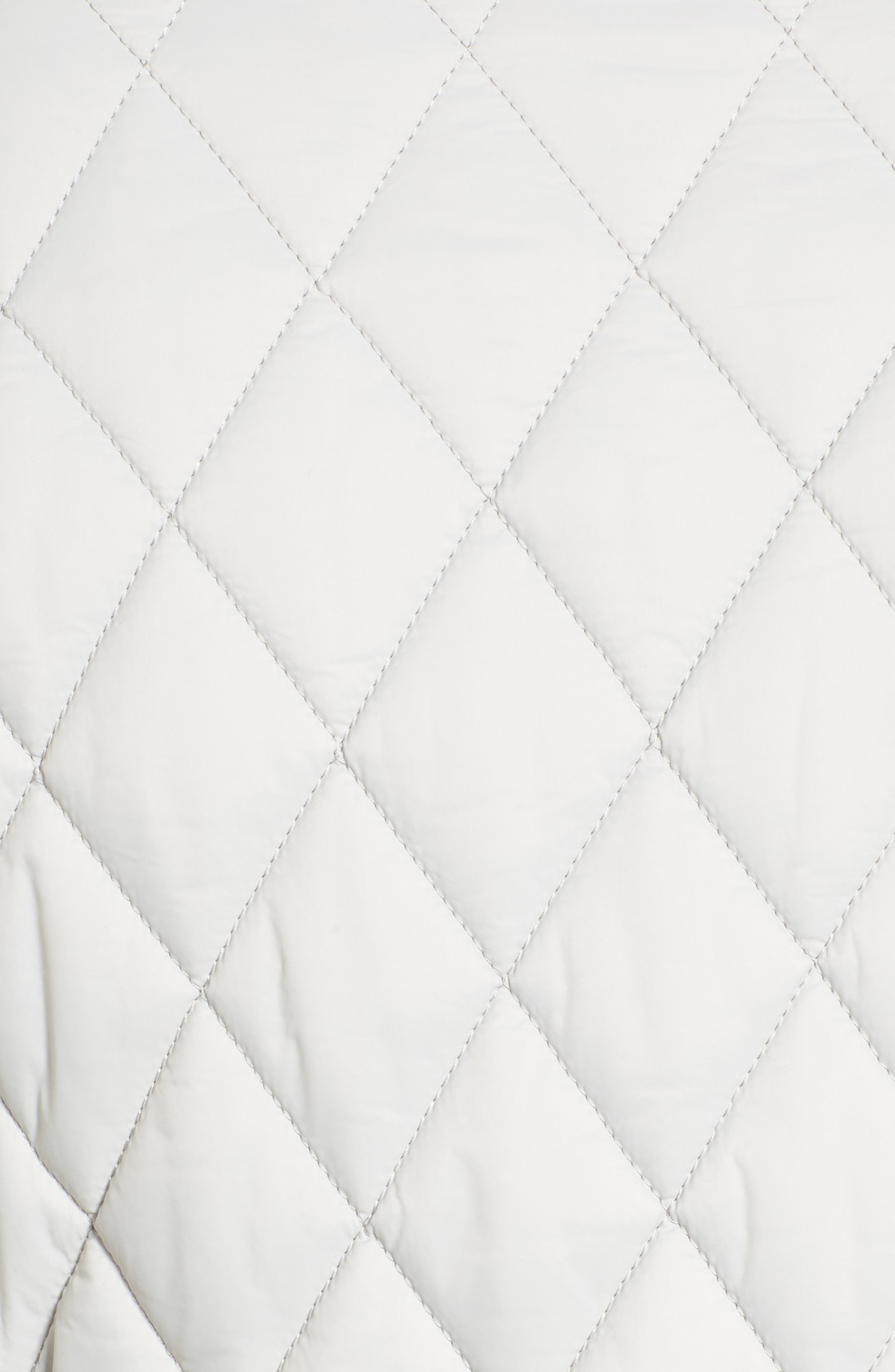 Dolostone Quilted Jacket,                             Alternate thumbnail 5, color,                             Ice White