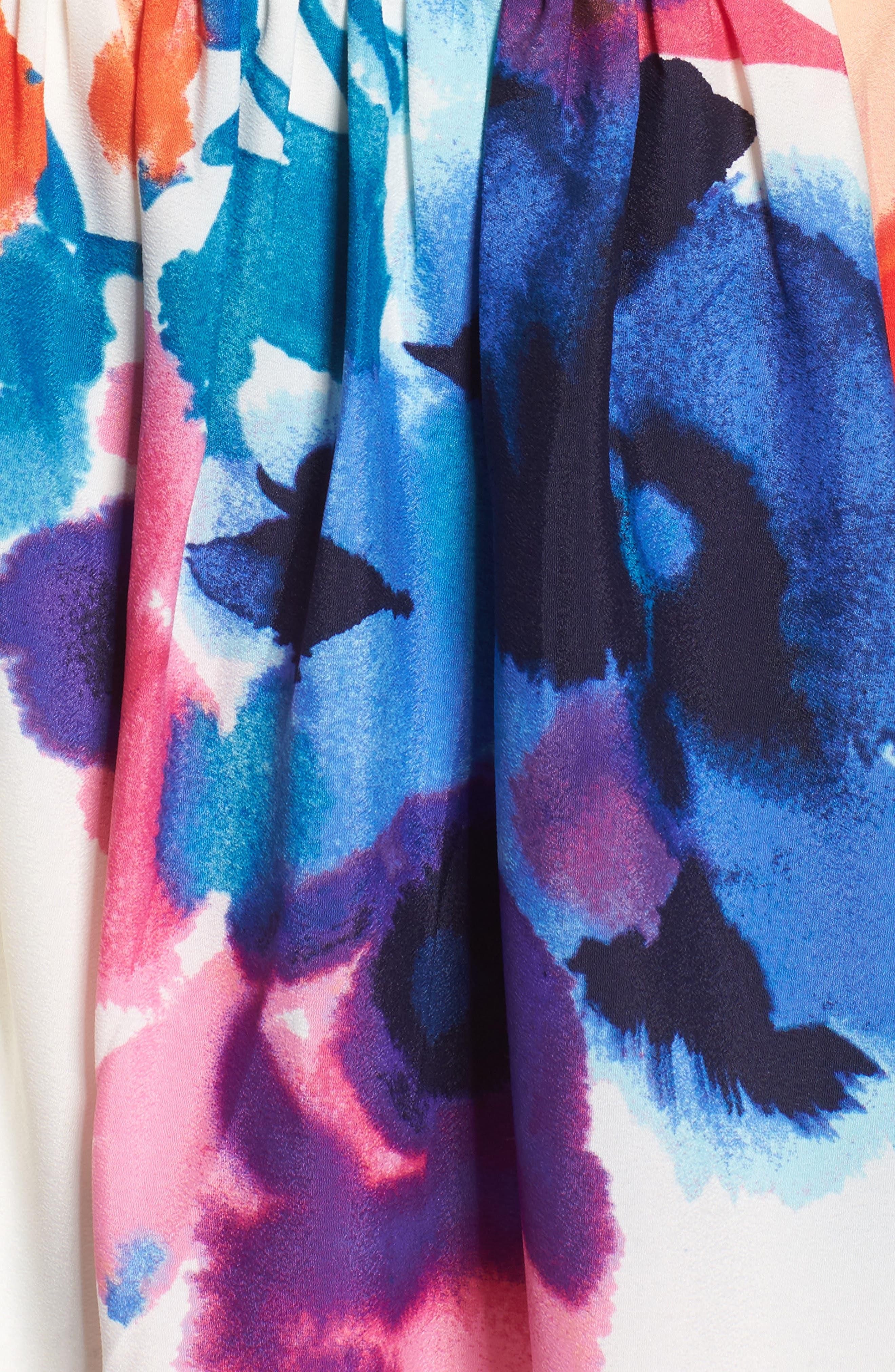 Alternate Image 5  - Eliza J Floral Print Halter Maxi Dress