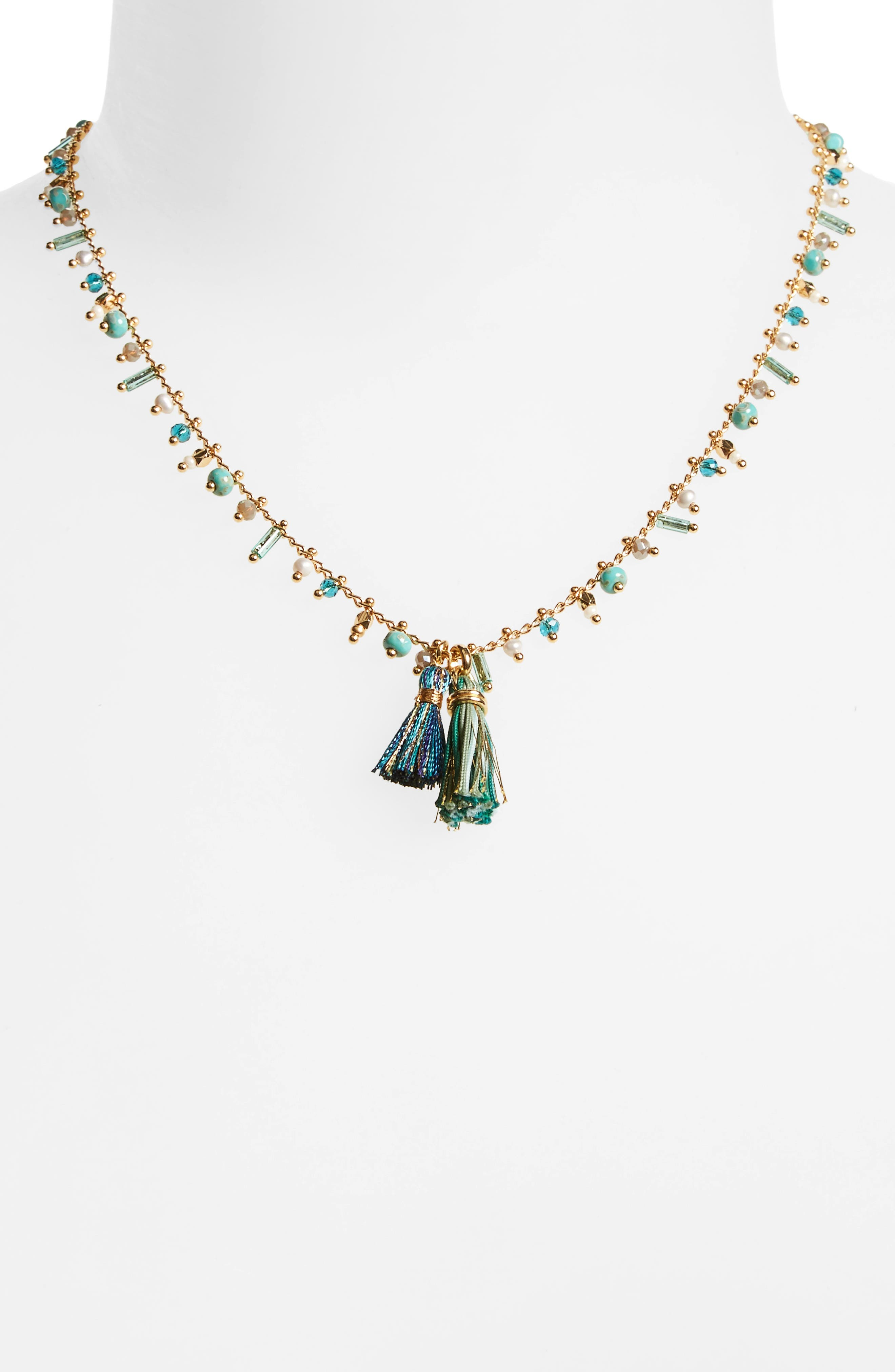 Alternate Image 2  - Gas Bijoux Beaded Tassel Necklace
