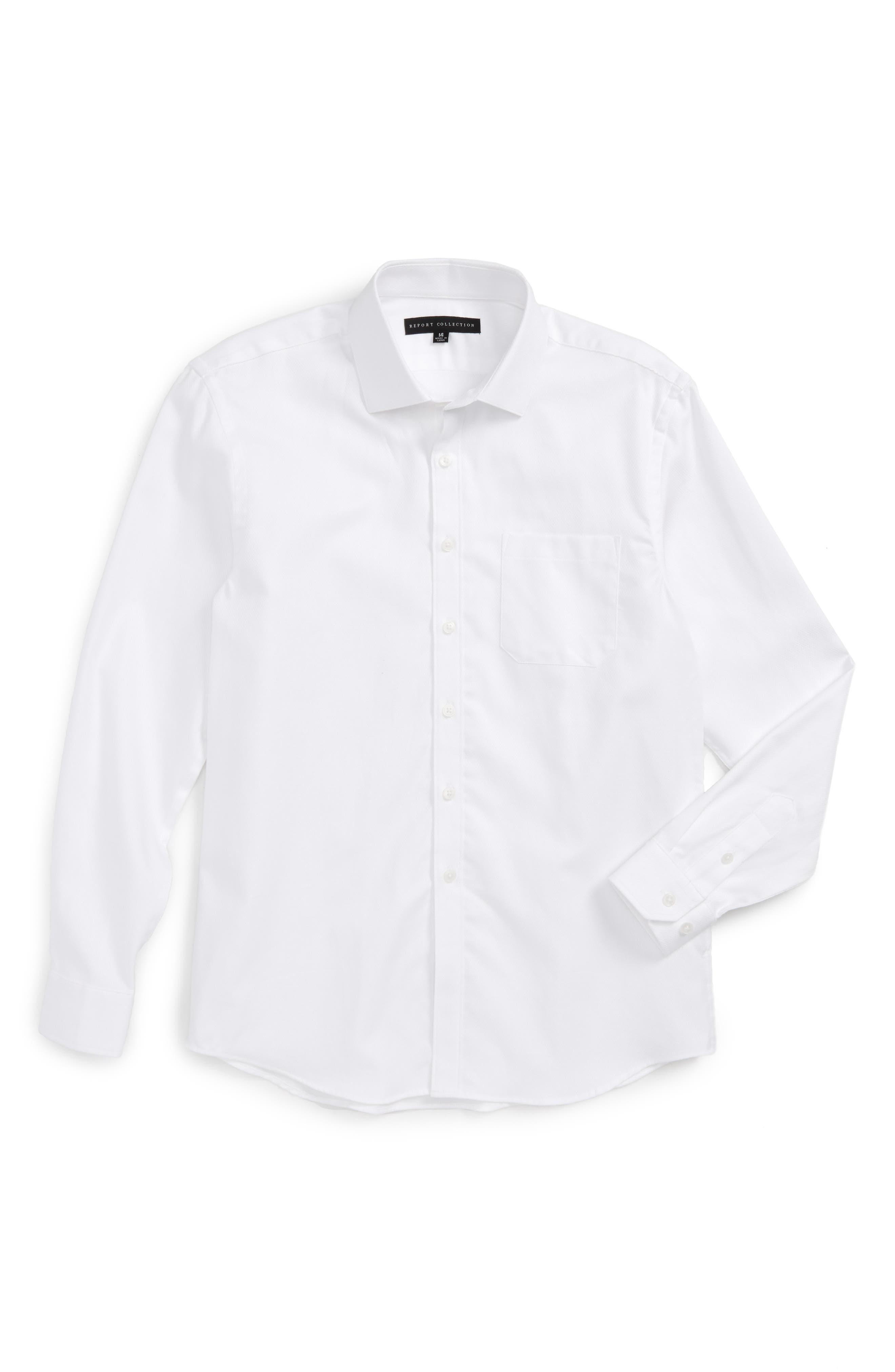 Textured Dress Shirt,                         Main,                         color, White