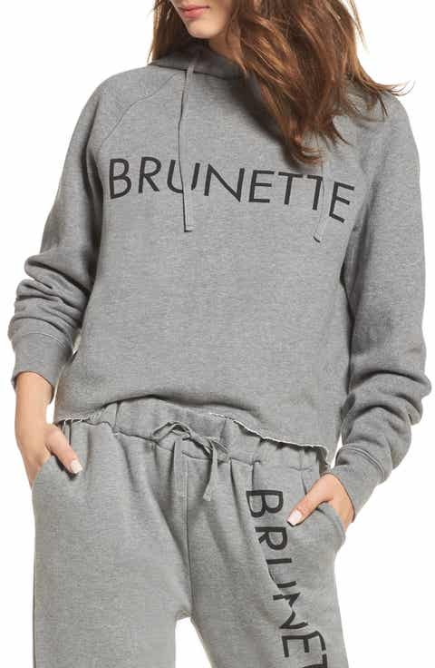 BRUNETTE the Label Brunette Raw Hem Hoodie