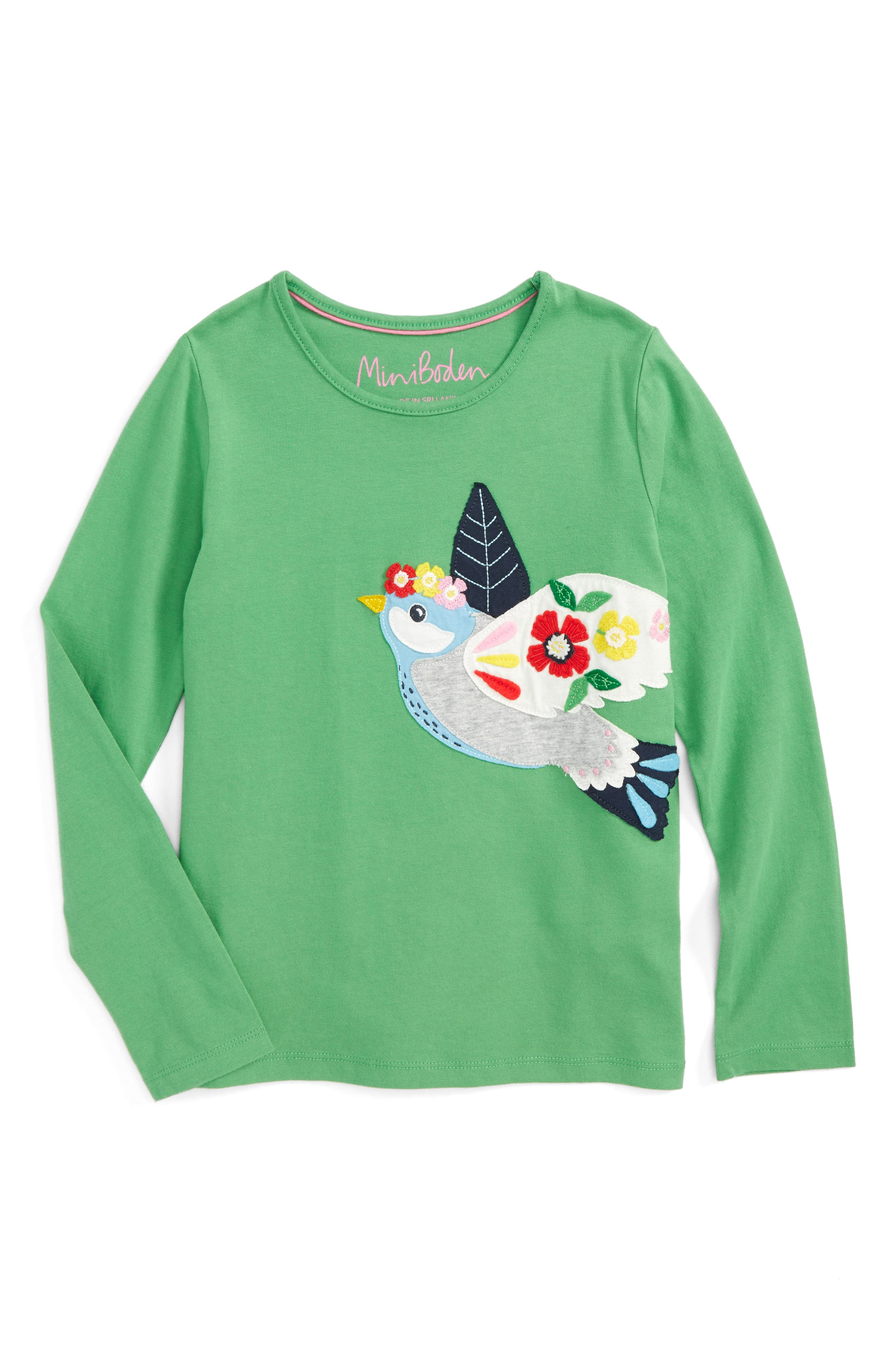 Mini Boden Felt Appliqué Tee (Toddler Girls, Little Girls & Big Girls)
