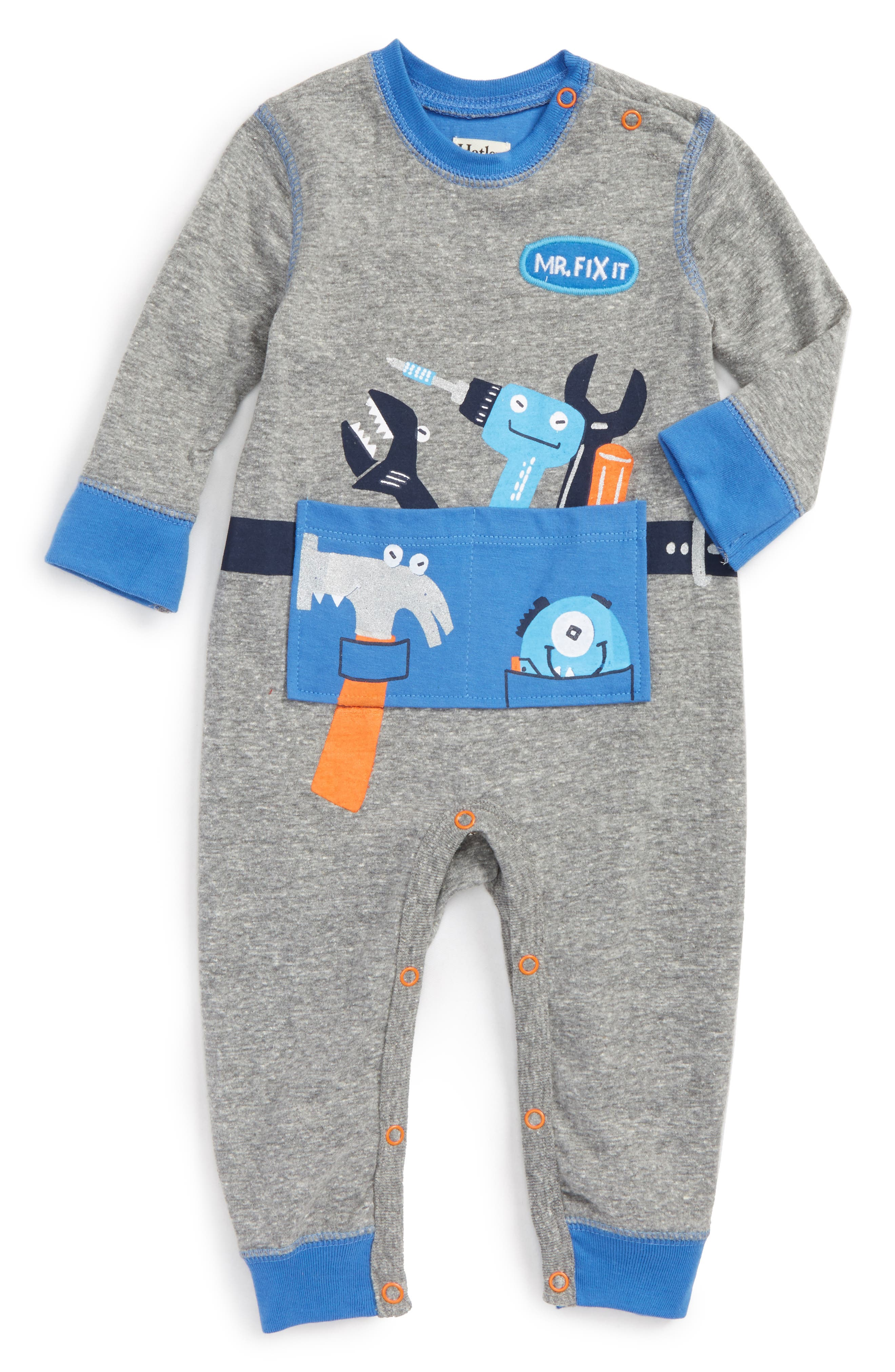 Hatley Mr. Fix It Romper (Baby Boys)