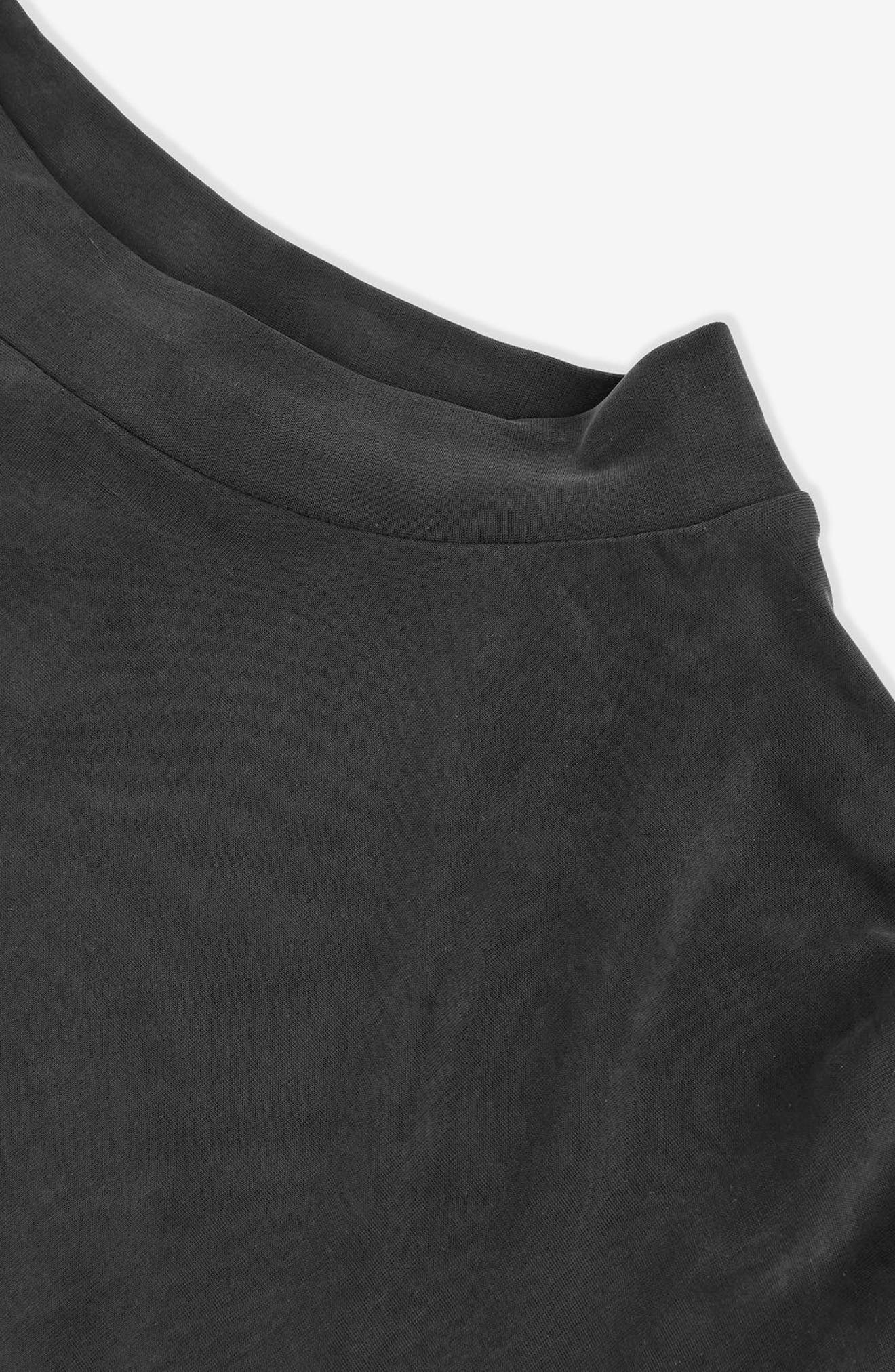 Ruched Cutout Tee,                             Alternate thumbnail 5, color,                             Black