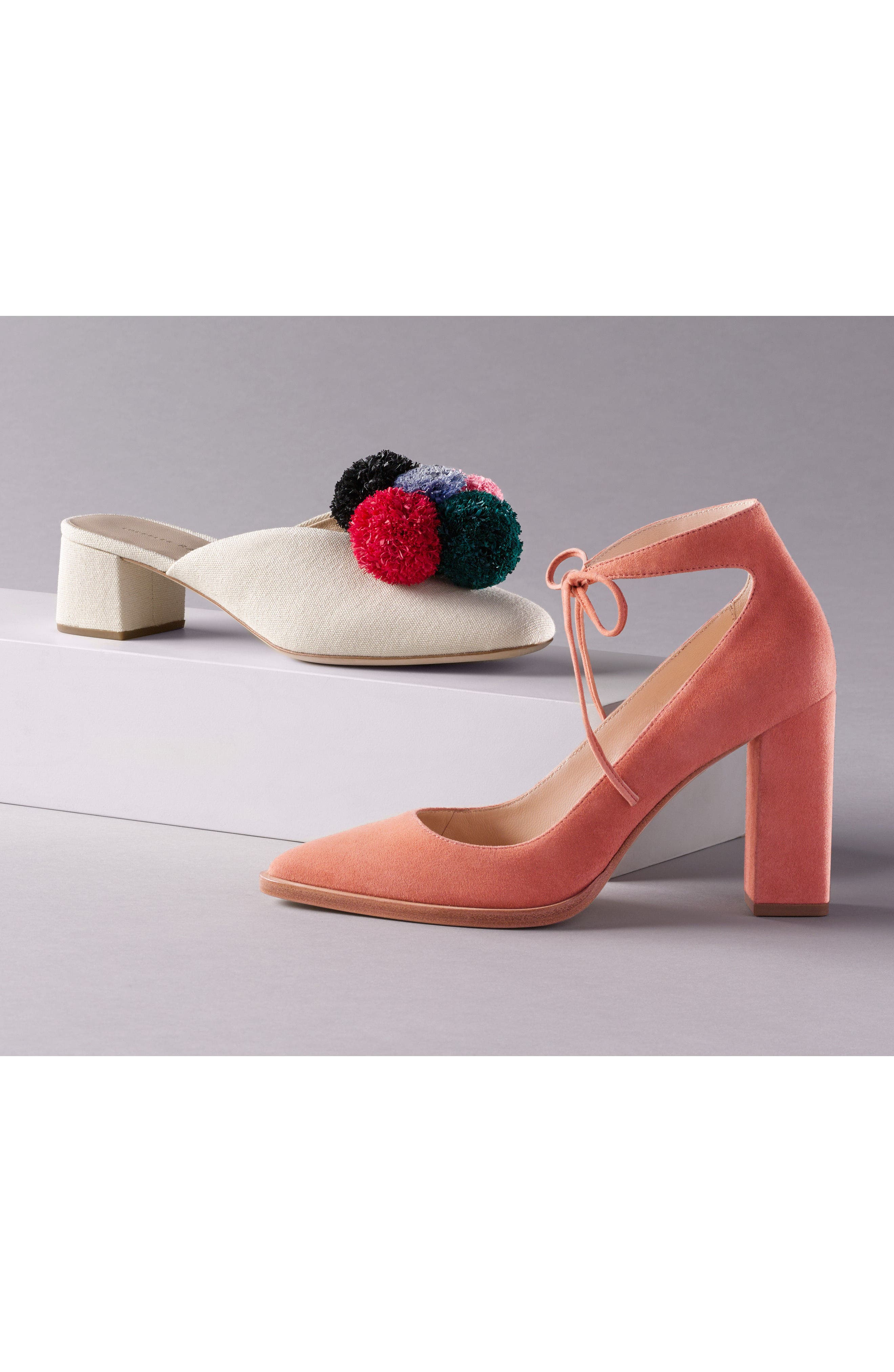 Lulu Pom Block Heel Mule,                             Alternate thumbnail 7, color,