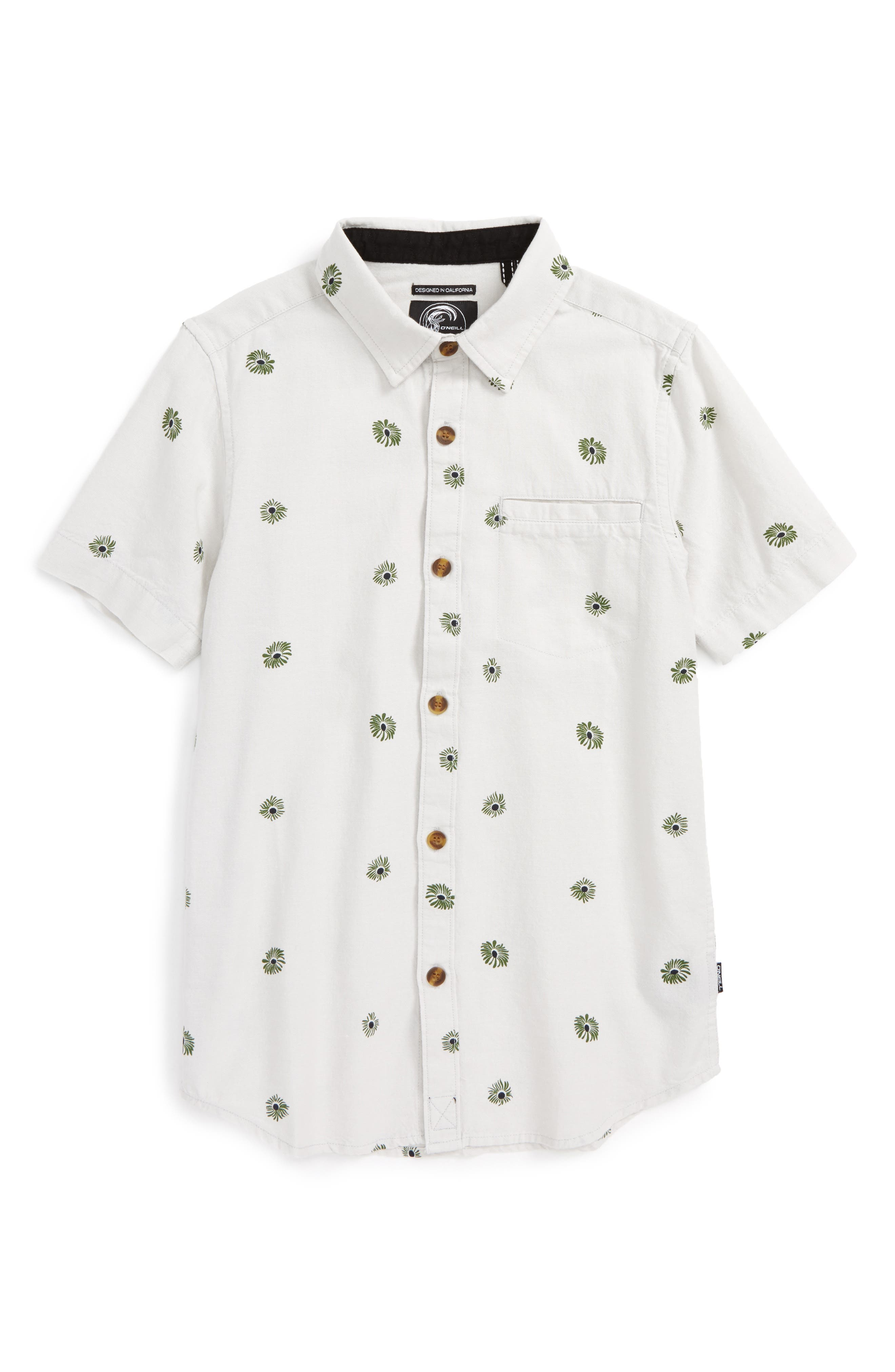 Alternate Image 1 Selected - O'Neill Brees Floral Print Woven Shirt (Big Boys)