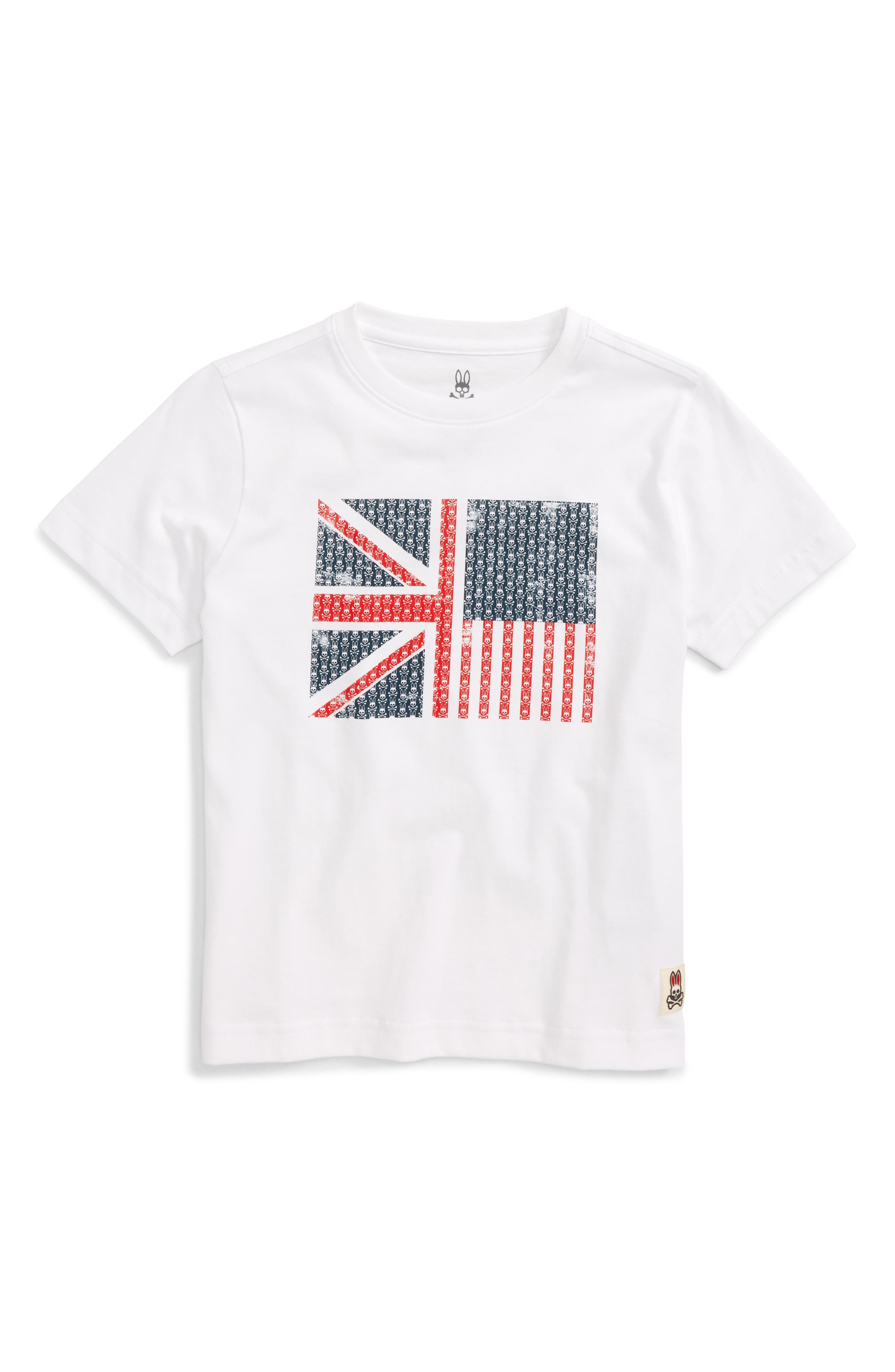 Flag Graphic T-Shirt,                         Main,                         color, White