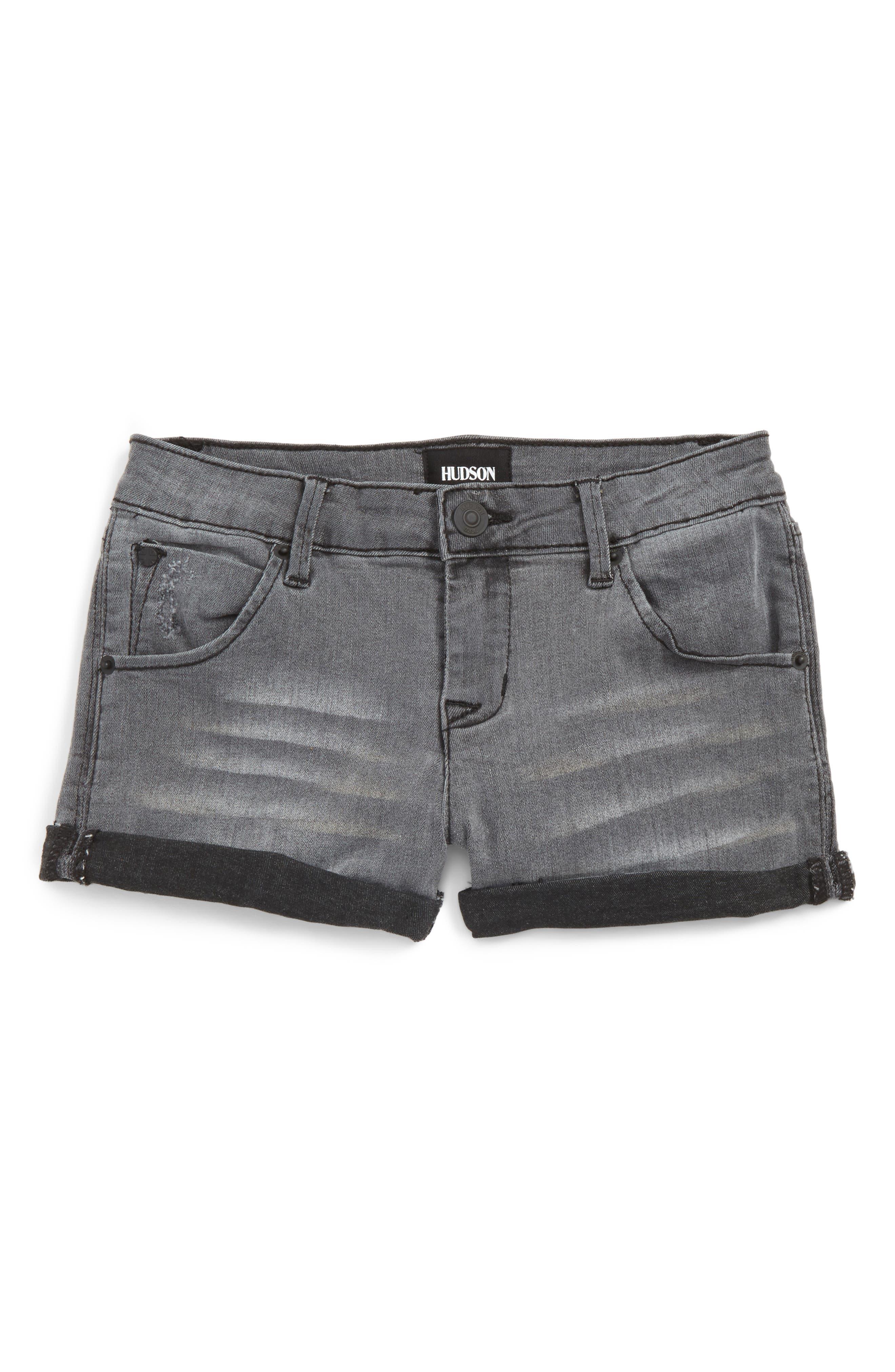 Alternate Image 1 Selected - Hudson Kids Roll Cuff Denim Shorts (Big Girls)