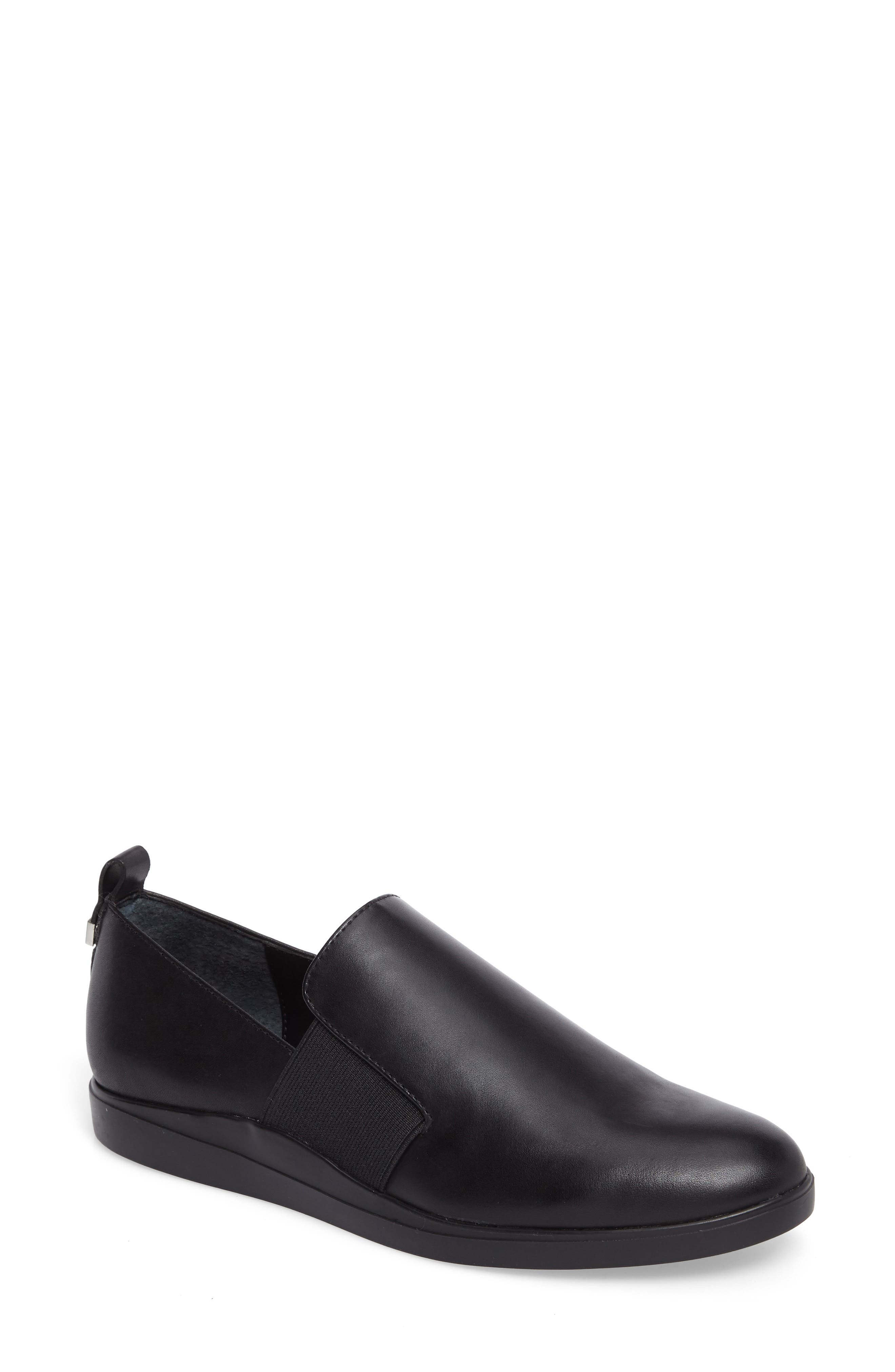 Shannin Loafer,                             Main thumbnail 1, color,                             Black Leather