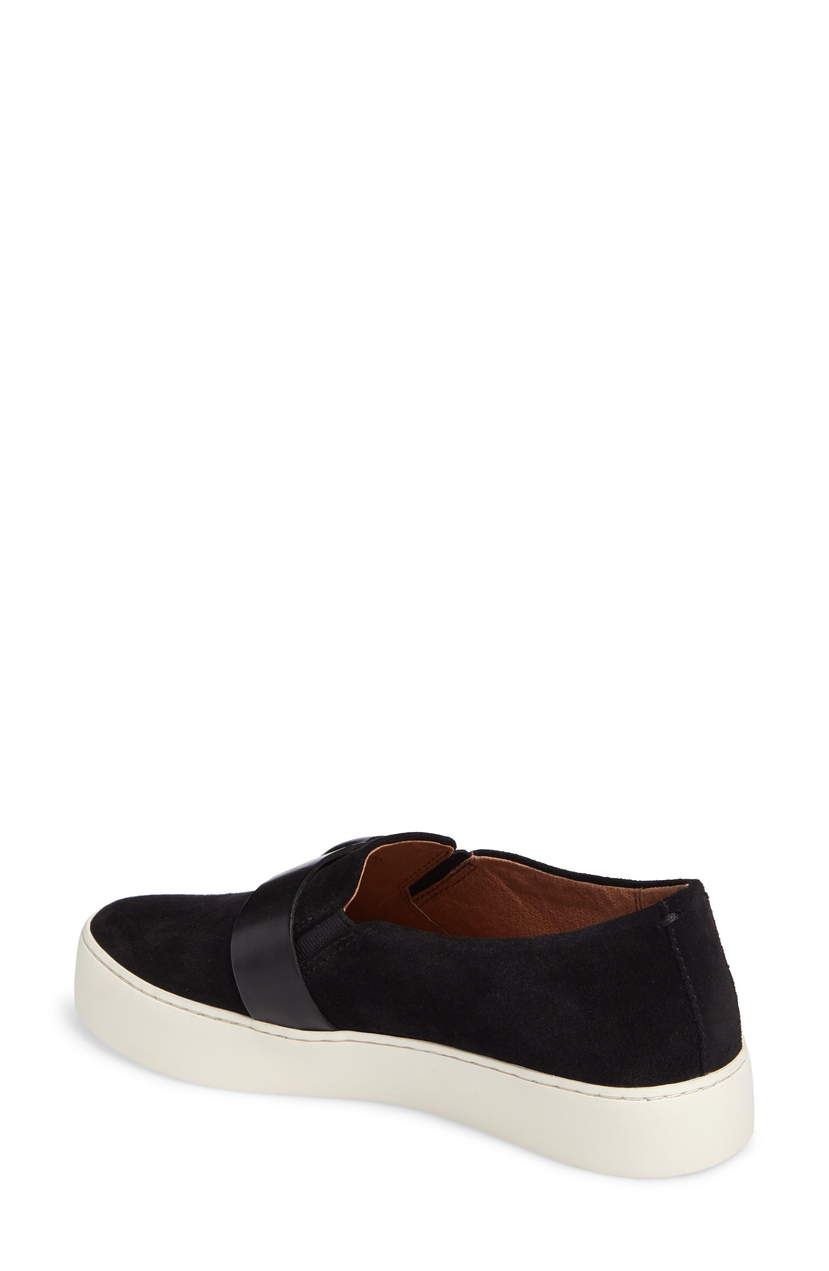 Lena Harness Slip-On Sneaker,                             Alternate thumbnail 2, color,                             Black
