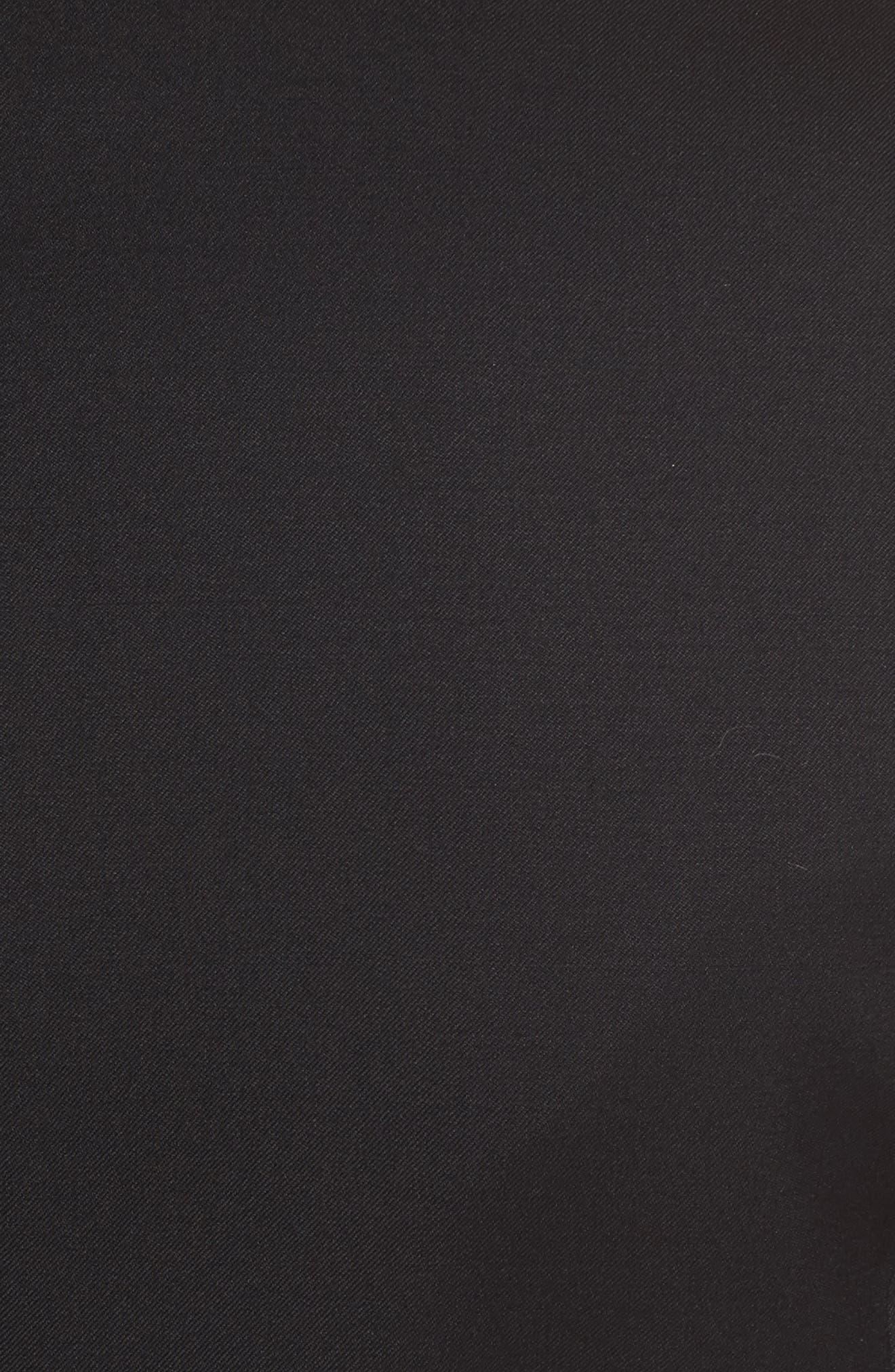 Tuxedo Detail Wool Suit Jacket,                             Alternate thumbnail 6, color,                             Black