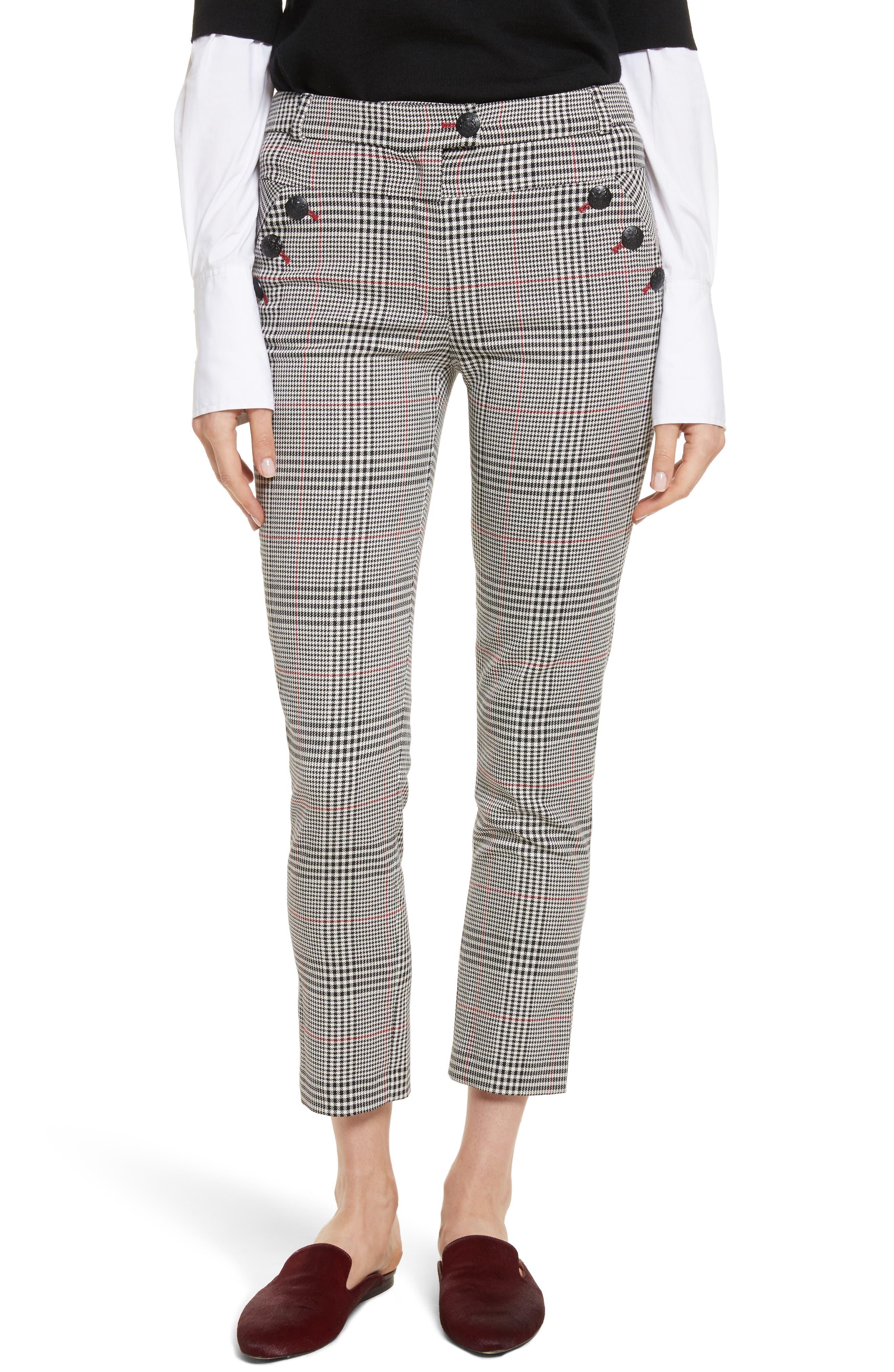 Farrow Pants,                         Main,                         color, White/ Black/ Red
