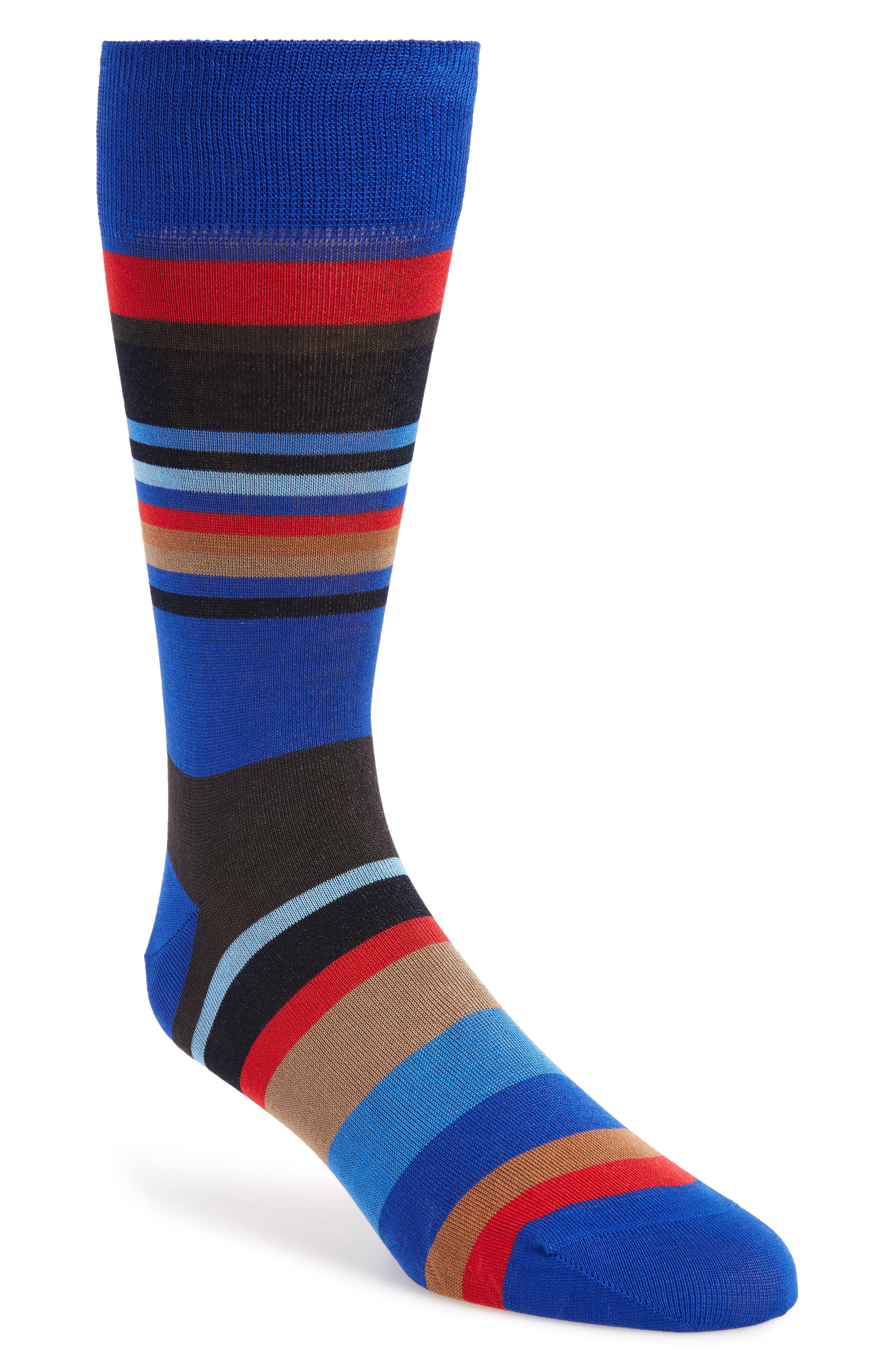 Stripe Socks,                         Main,                         color, Royal