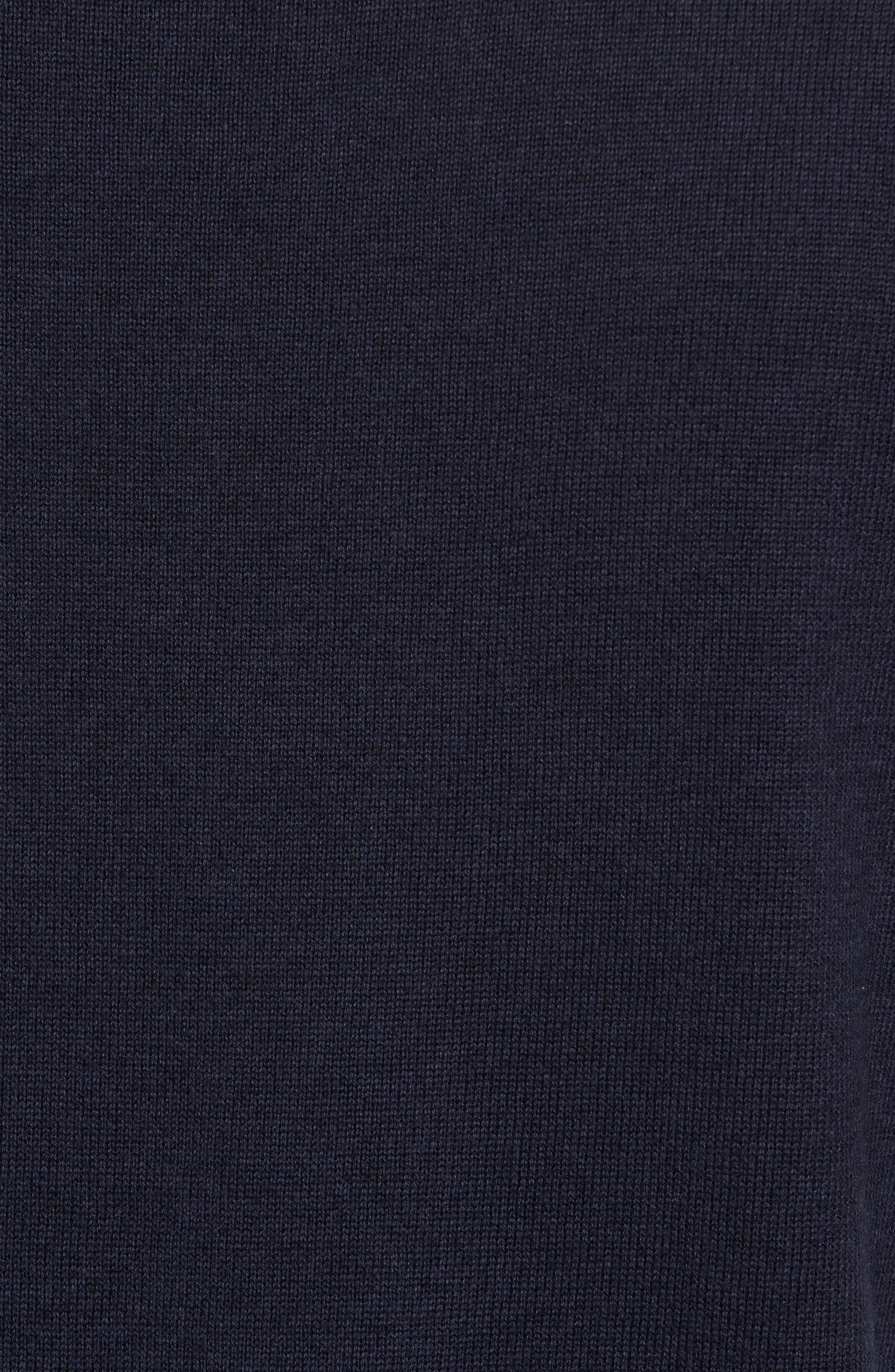 Portrait Crewneck Sweater,                             Alternate thumbnail 5, color,                             Marine Blue