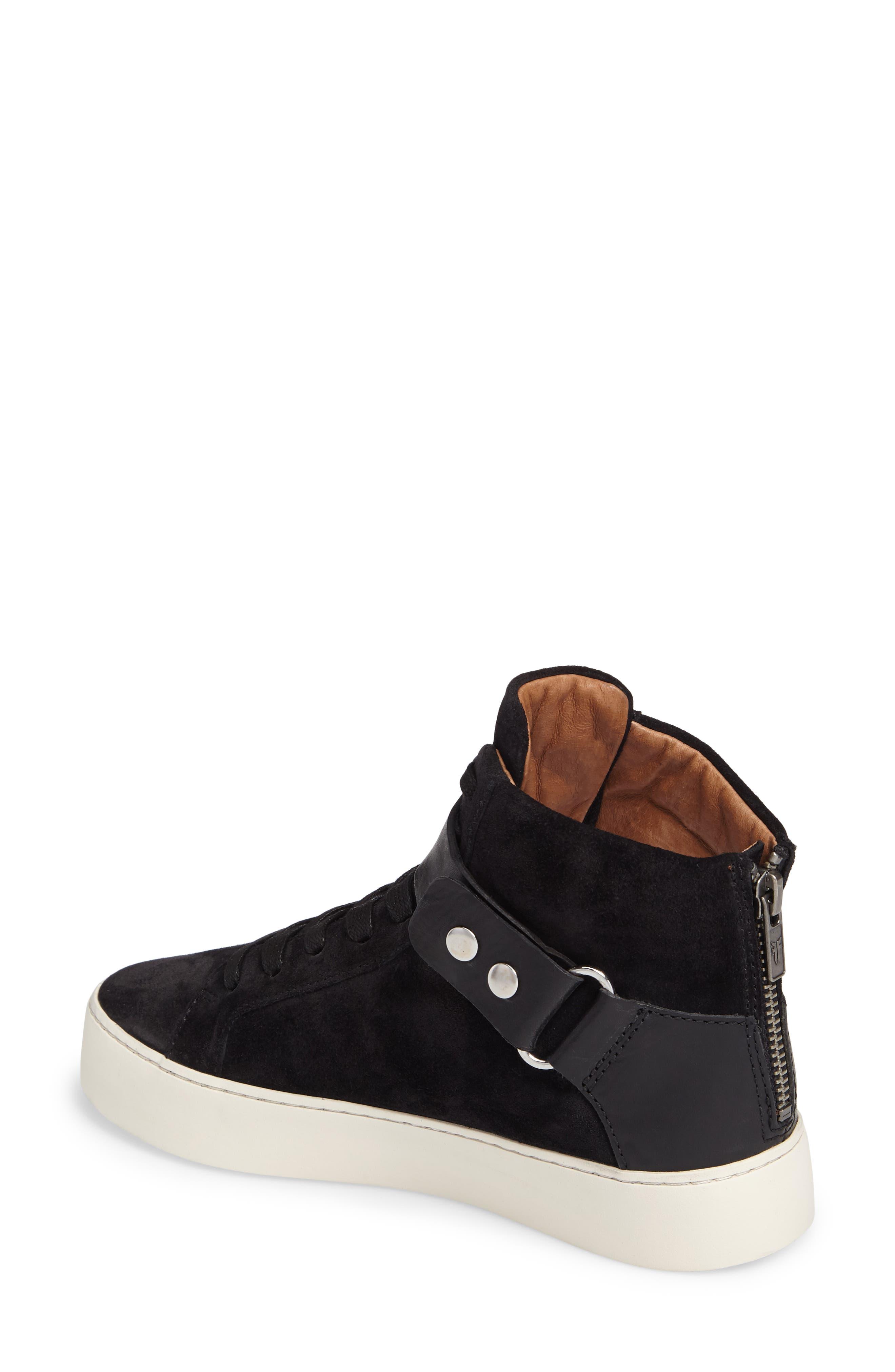Lena Harness Sneaker,                             Alternate thumbnail 2, color,                             Black