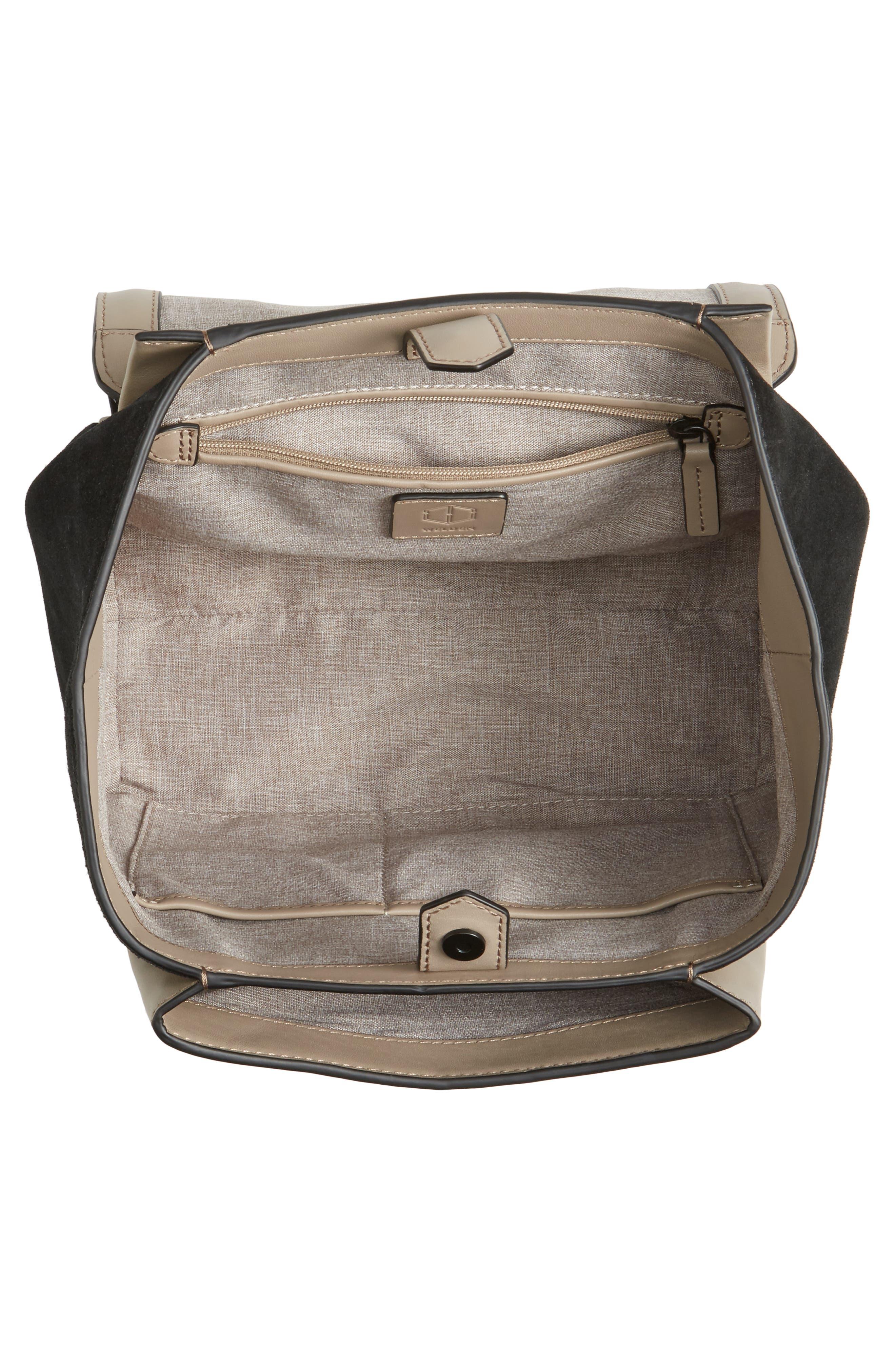 Alternate Image 3  - WELDEN Small Saunter Colorblocked Leather & Suede Top Handle Satchel