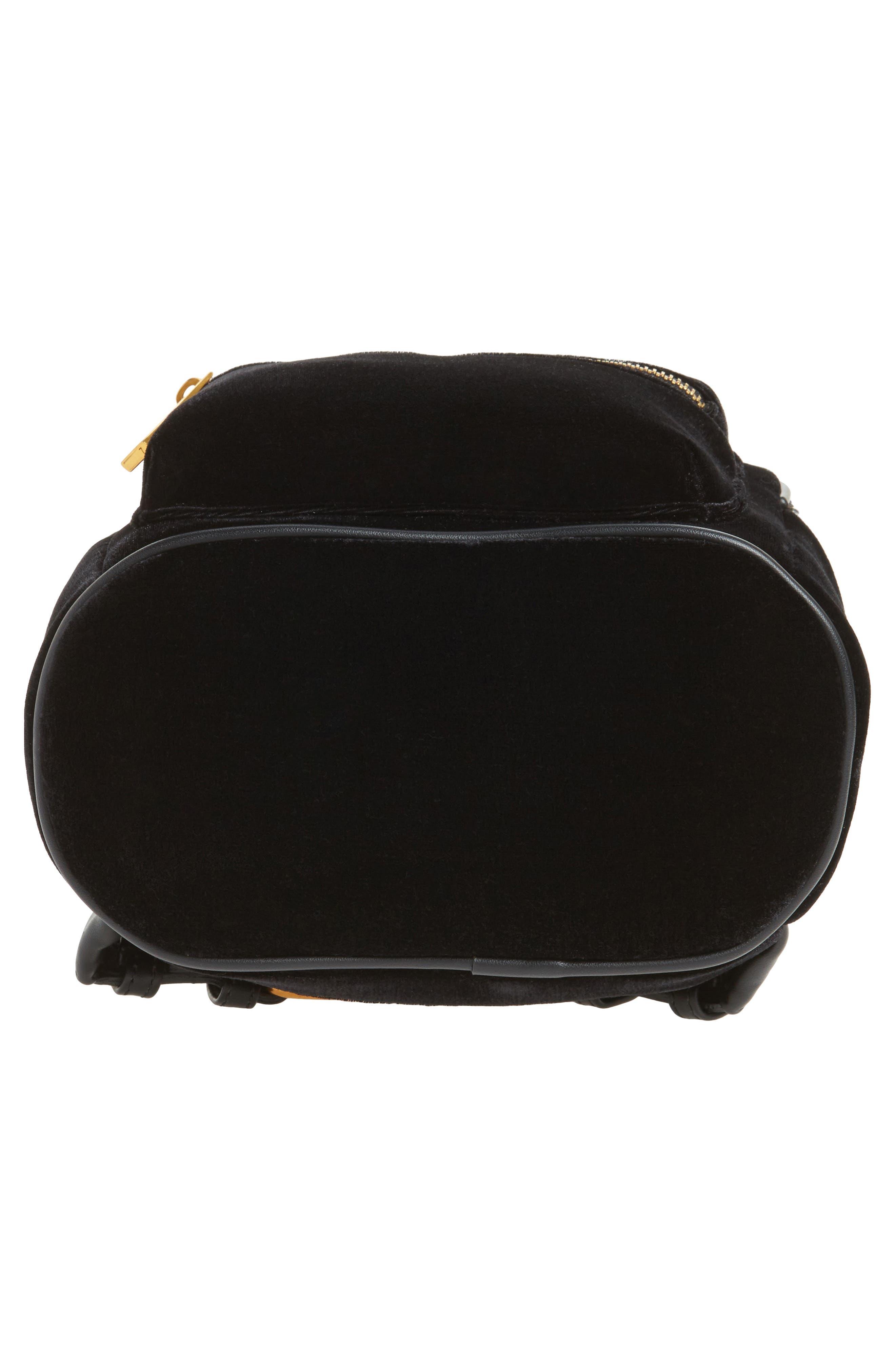 Velvet Backpack,                             Alternate thumbnail 6, color,                             Black