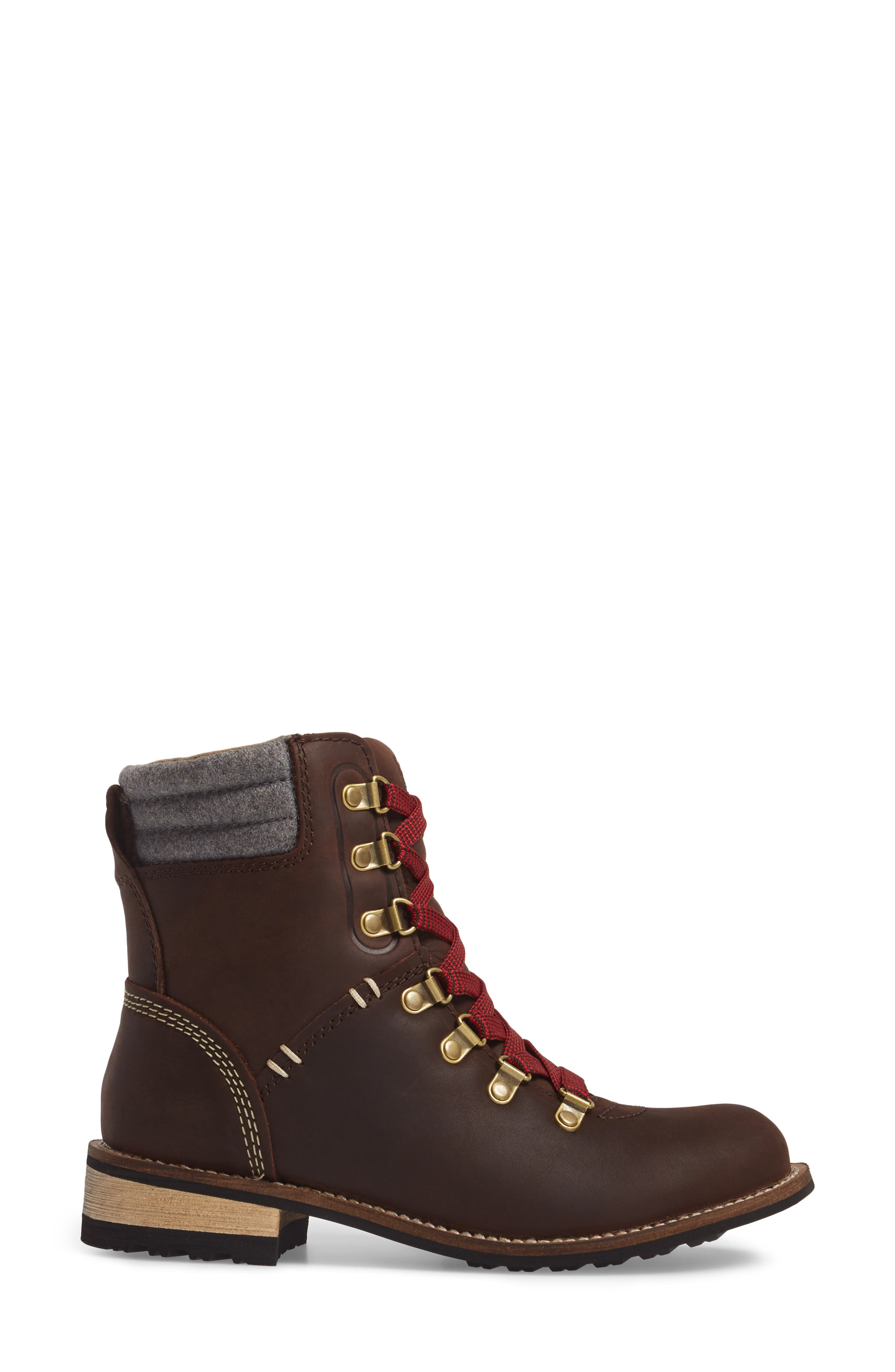 Surrey II Waterproof Boot,                             Alternate thumbnail 3, color,                             Brown Leather
