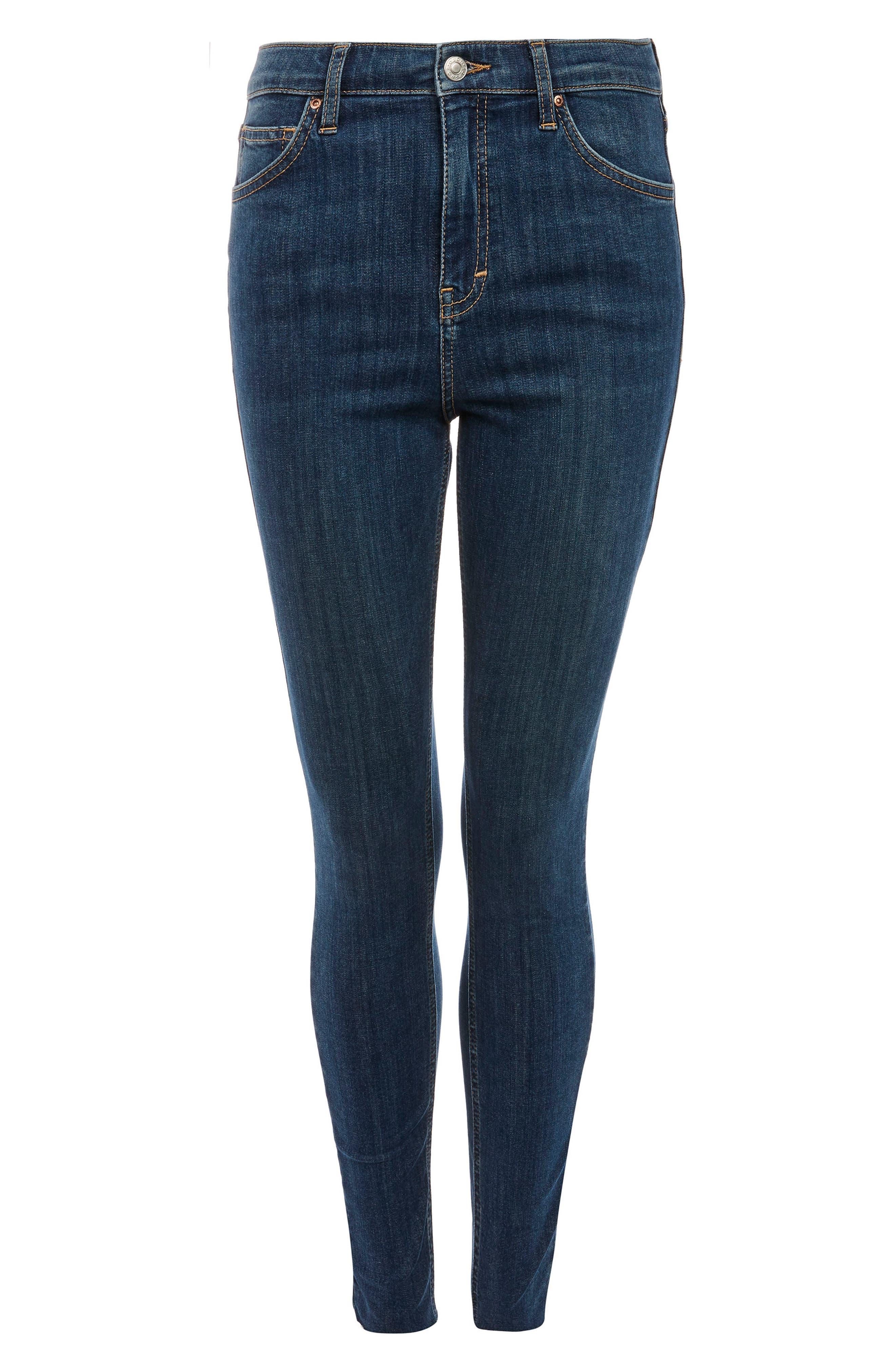 Jamie Released Hem Ankle Skinny Jeans,                             Alternate thumbnail 4, color,                             Mid Denim