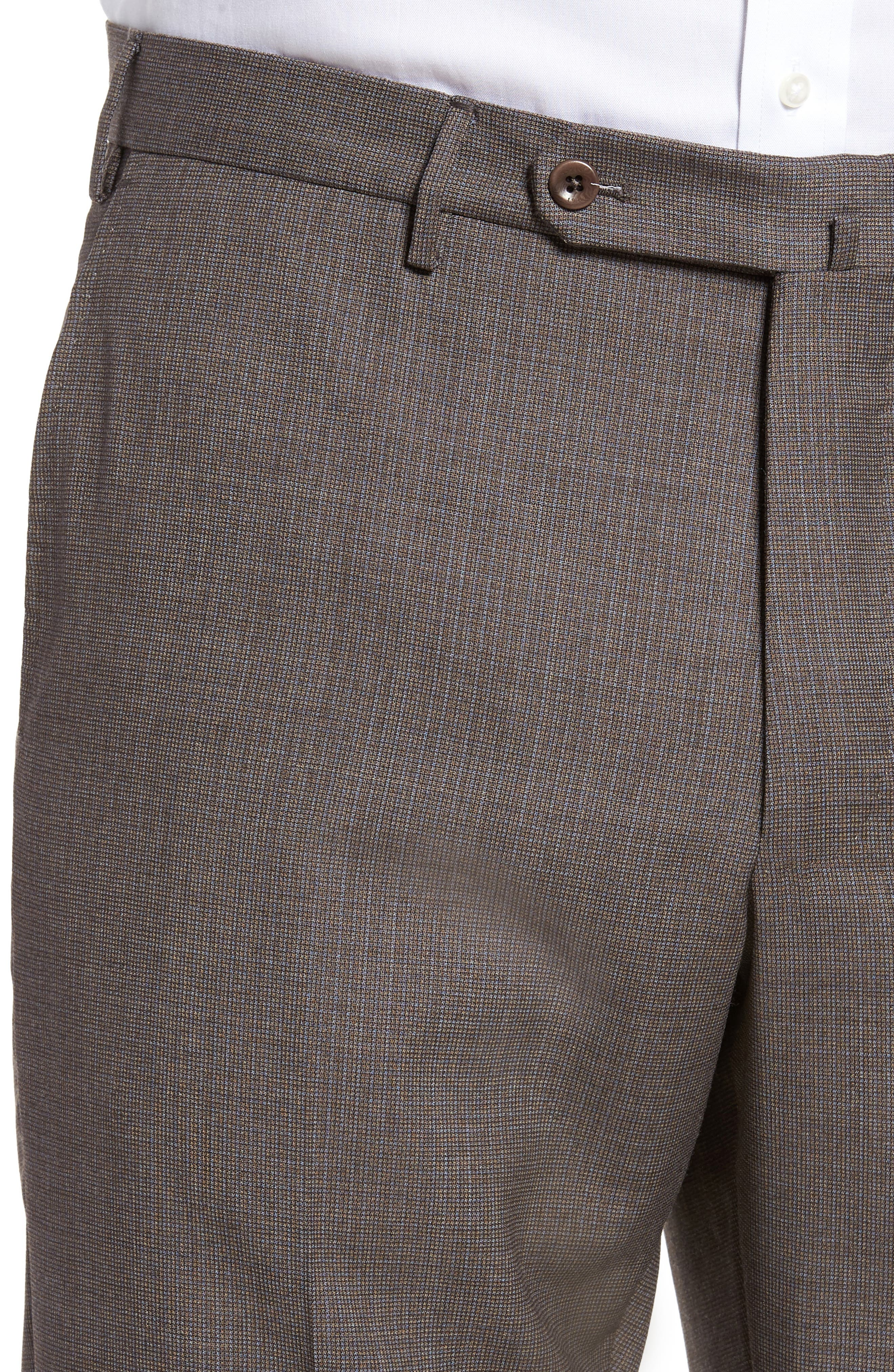 Alternate Image 4  - Incotex Benson Flat Front Wool Trousers