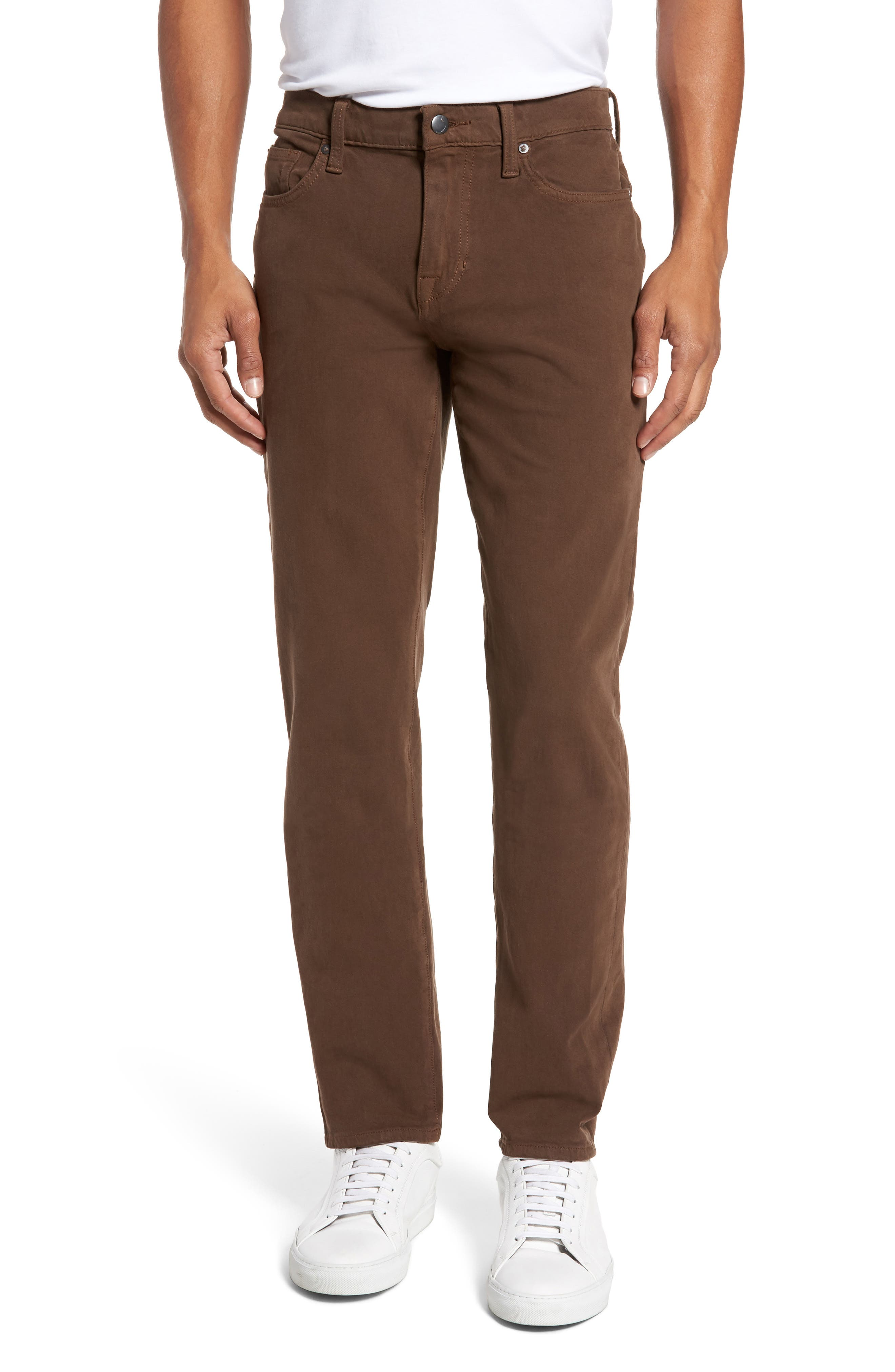 Brixton Slim Straight Fit Jeans,                         Main,                         color, Dark Walnut