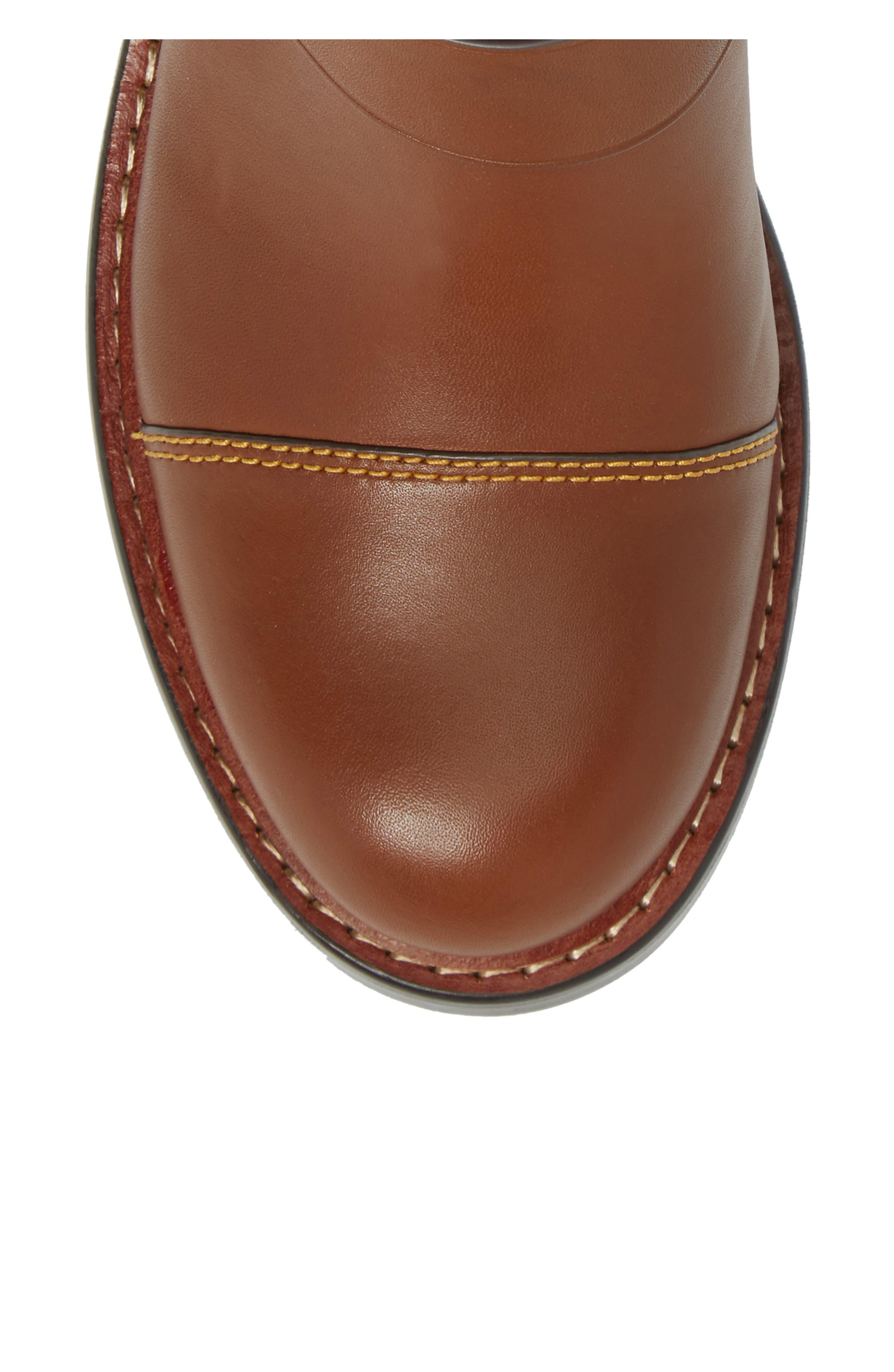 Moto Bootie,                             Alternate thumbnail 5, color,                             Dark Saddle Leather