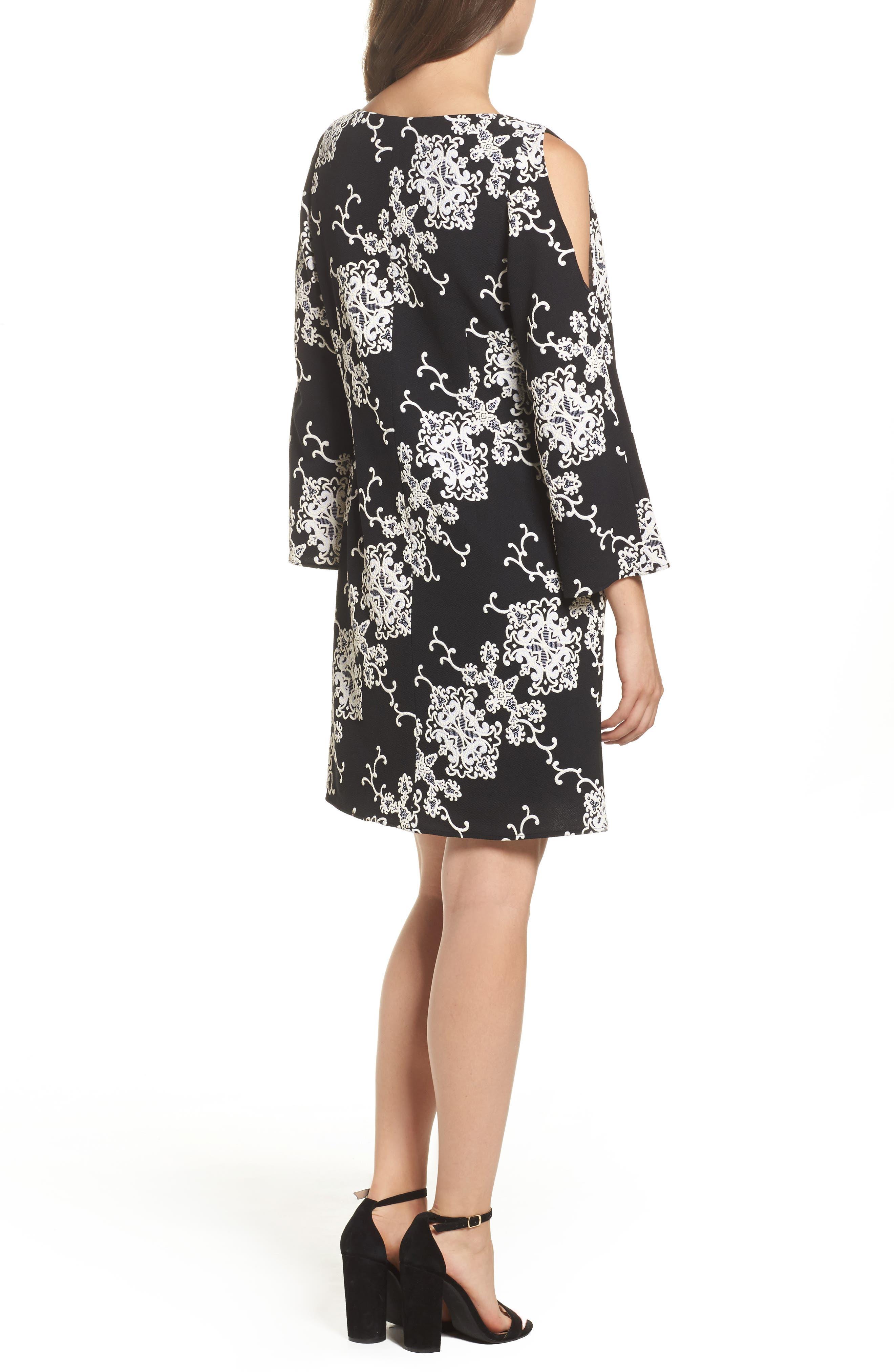 Alternate Image 2  - Adrianna Papell Cold Shoulder Shift Dress
