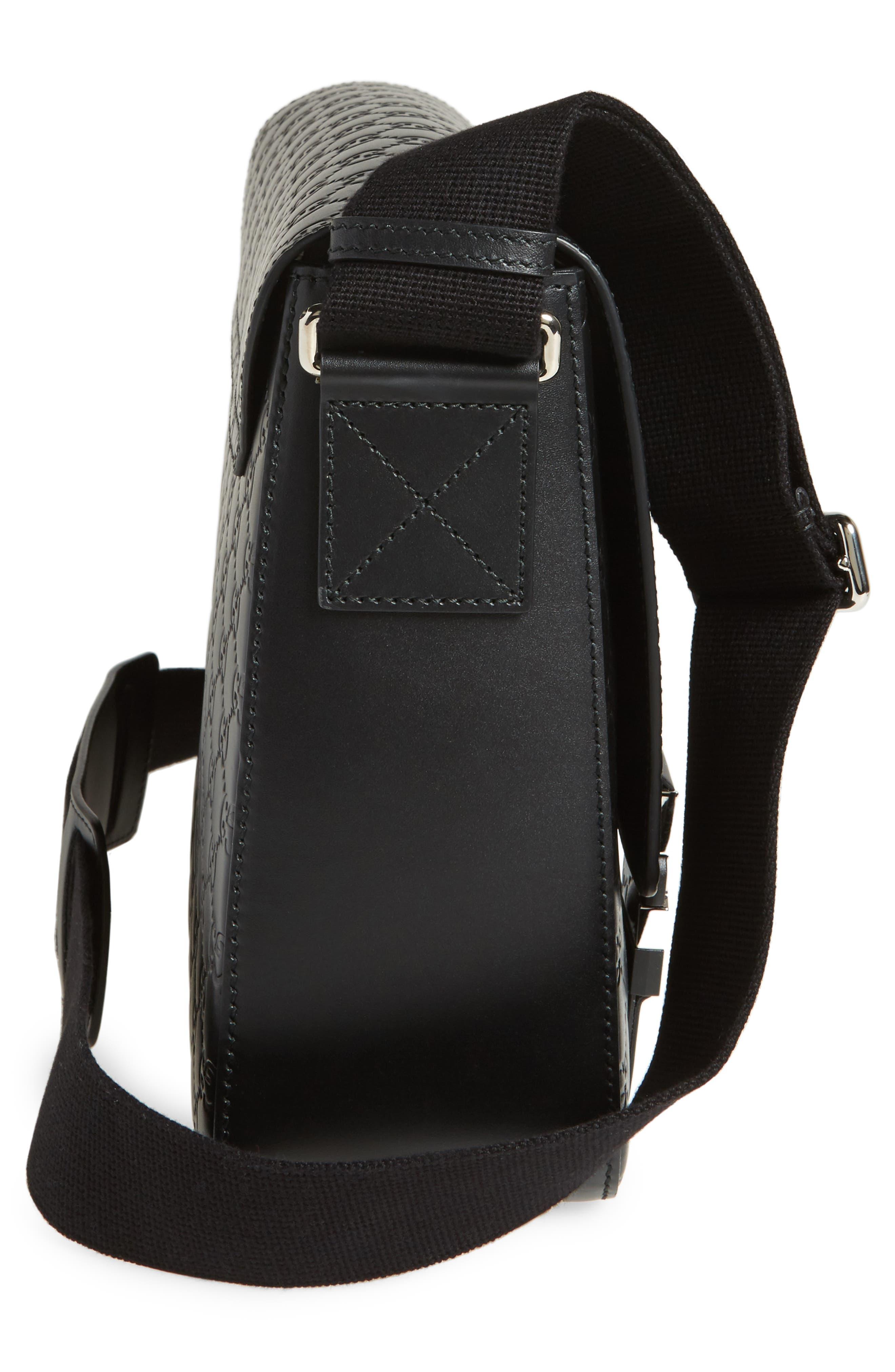 Alternate Image 5  - Gucci GG Leather Messenger Bag
