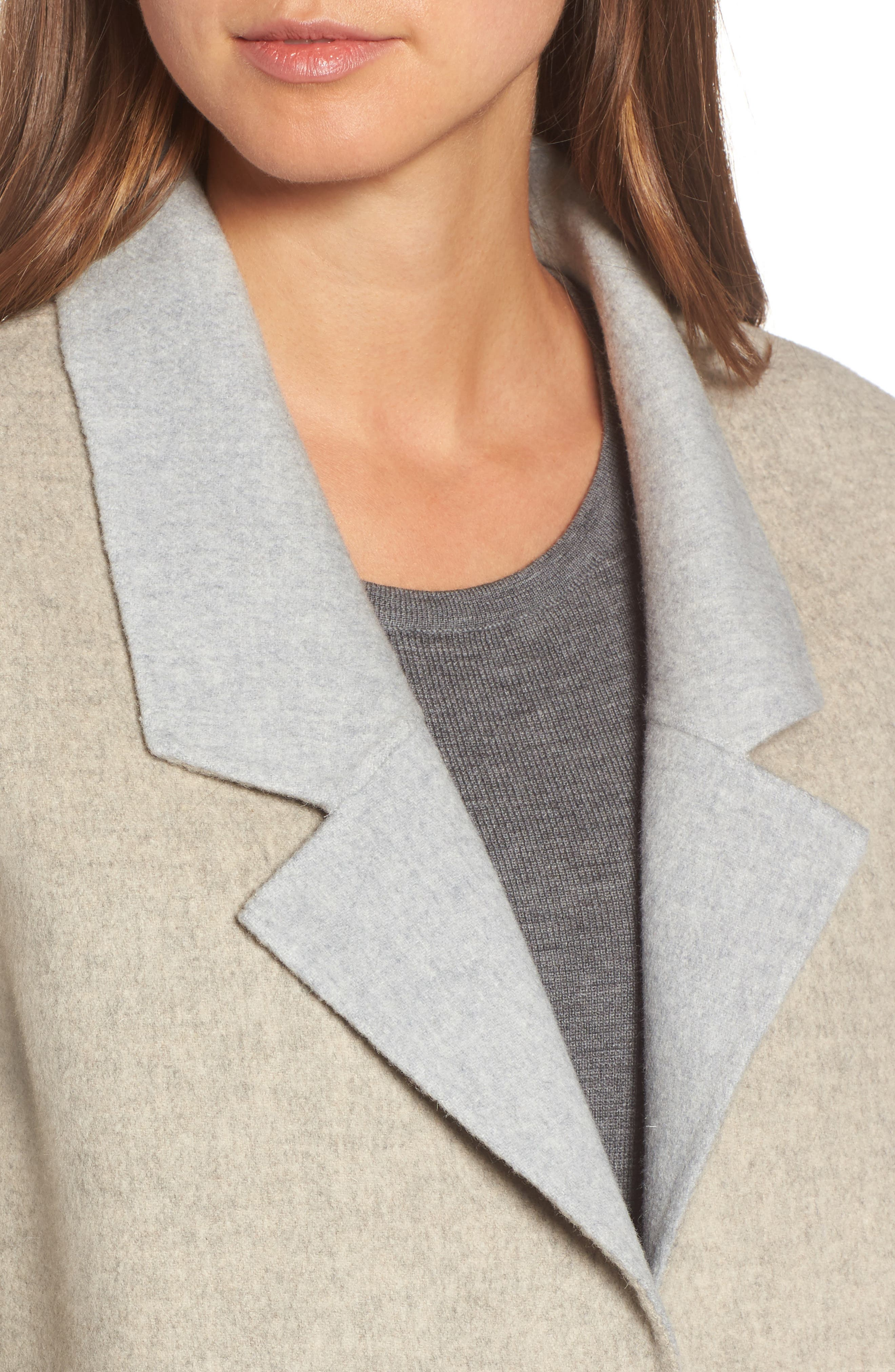 Alternate Image 4  - Eileen Fisher Double Face Brushed Wool Notch Collar Jacket