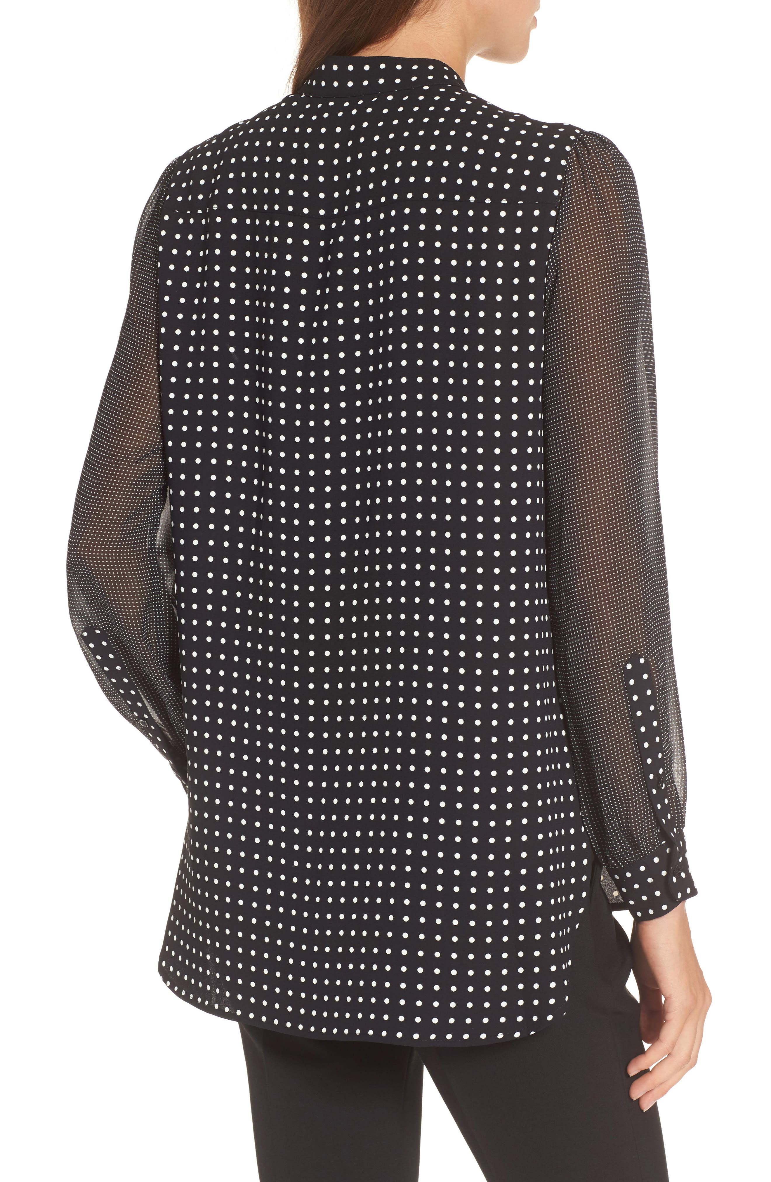 Alternate Image 2  - Anne Klein Mixed Dot Print Blouse
