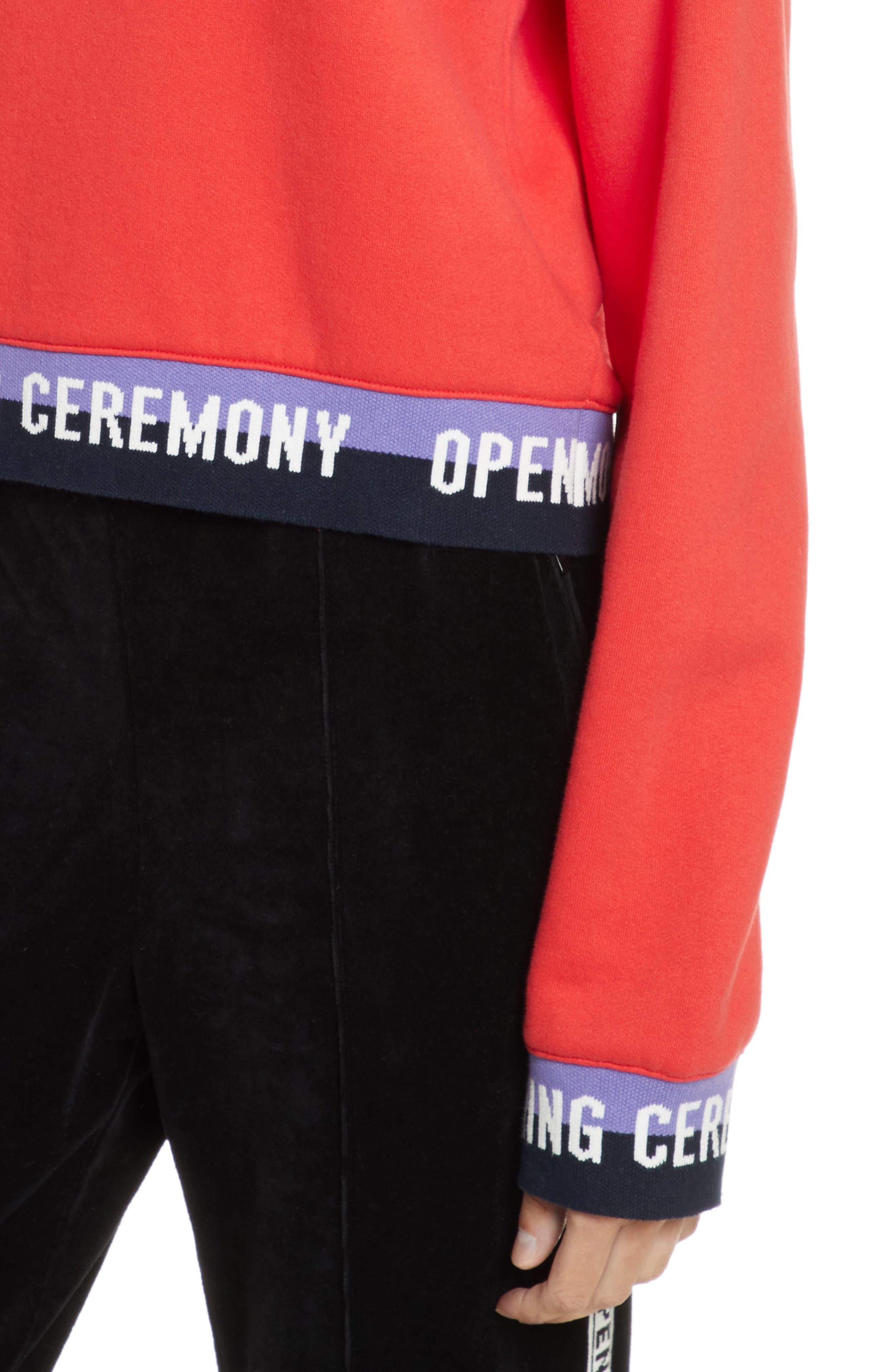 Alternate Image 4  - Opening Ceremony Elastic Logo Crop Sweatshirt (Limited Edition)