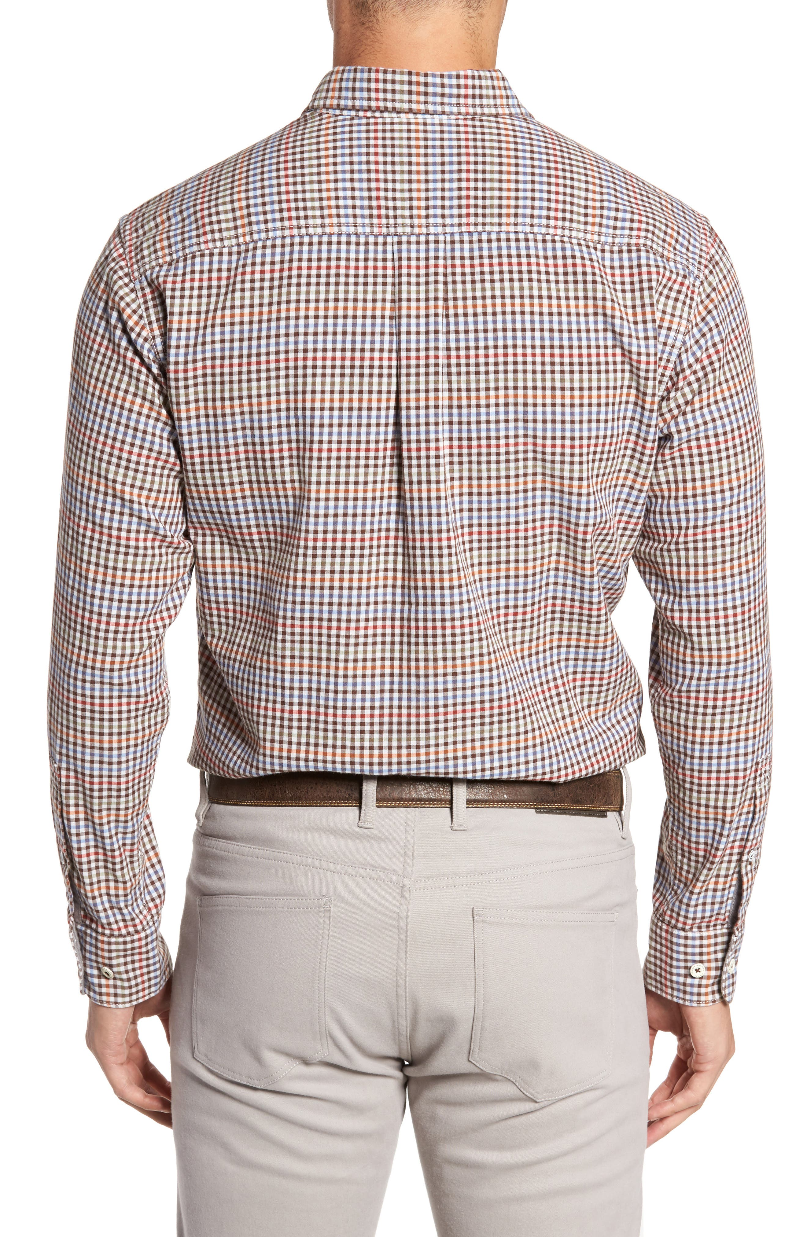 Tan Tan Regular Fit Check Sport Shirt,                             Alternate thumbnail 2, color,                             Vapor