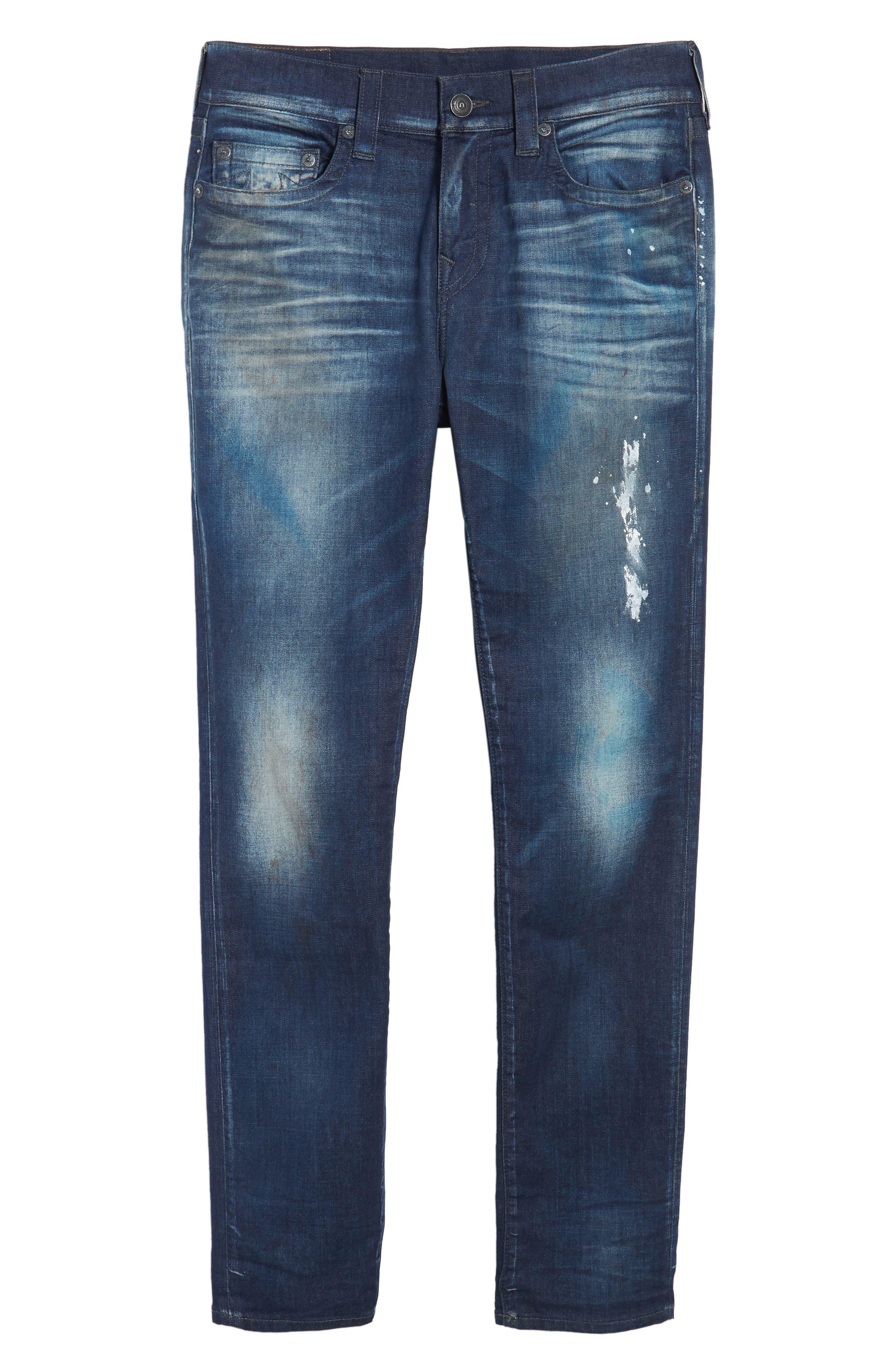 Rocco Skinny Fit Jeans,                             Alternate thumbnail 6, color,                             Loft Edge