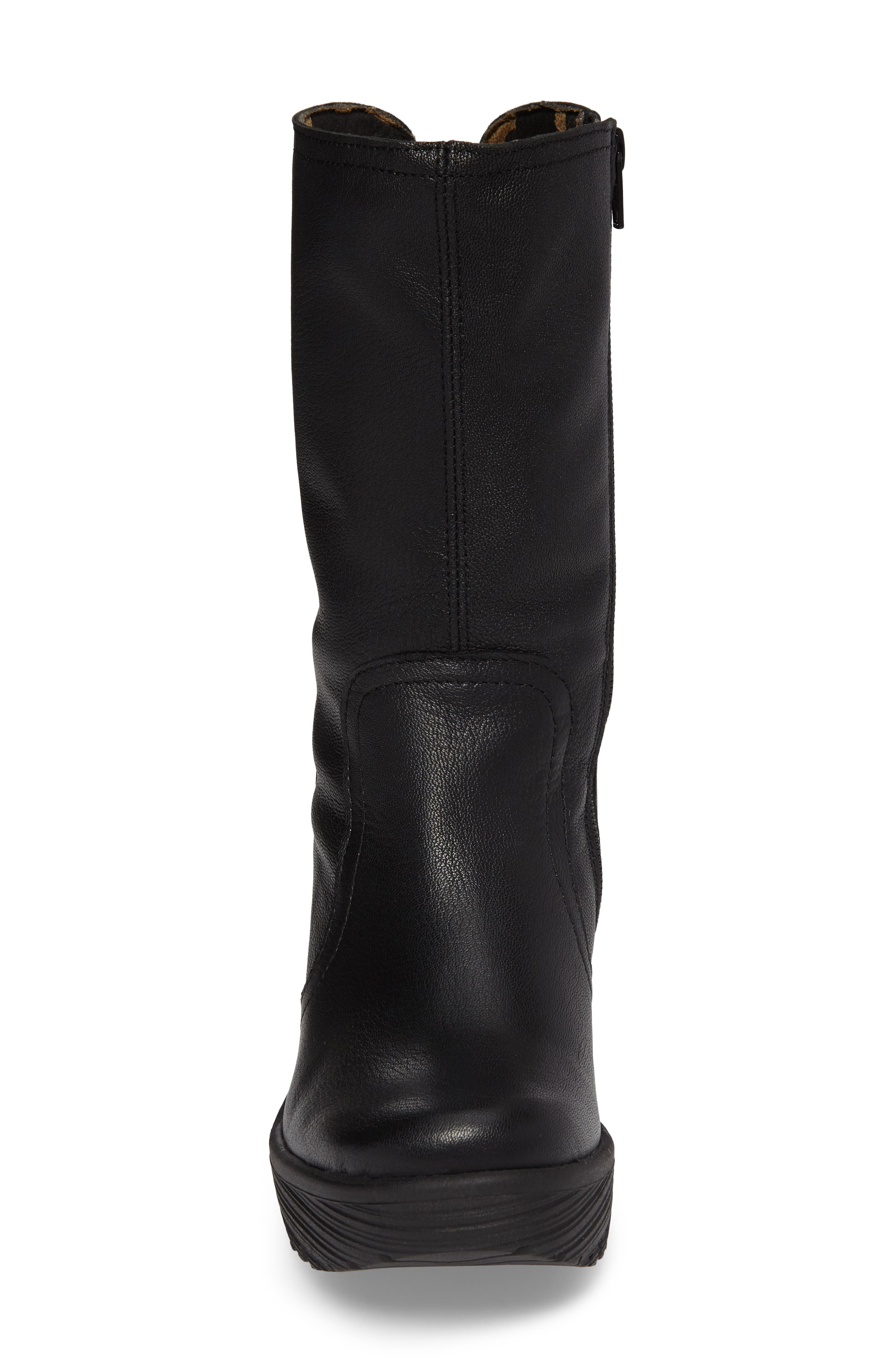 Yups Waterproof Gore-Tex<sup>®</sup> Wedge Boot,                             Alternate thumbnail 4, color,                             Black Mousse Leather