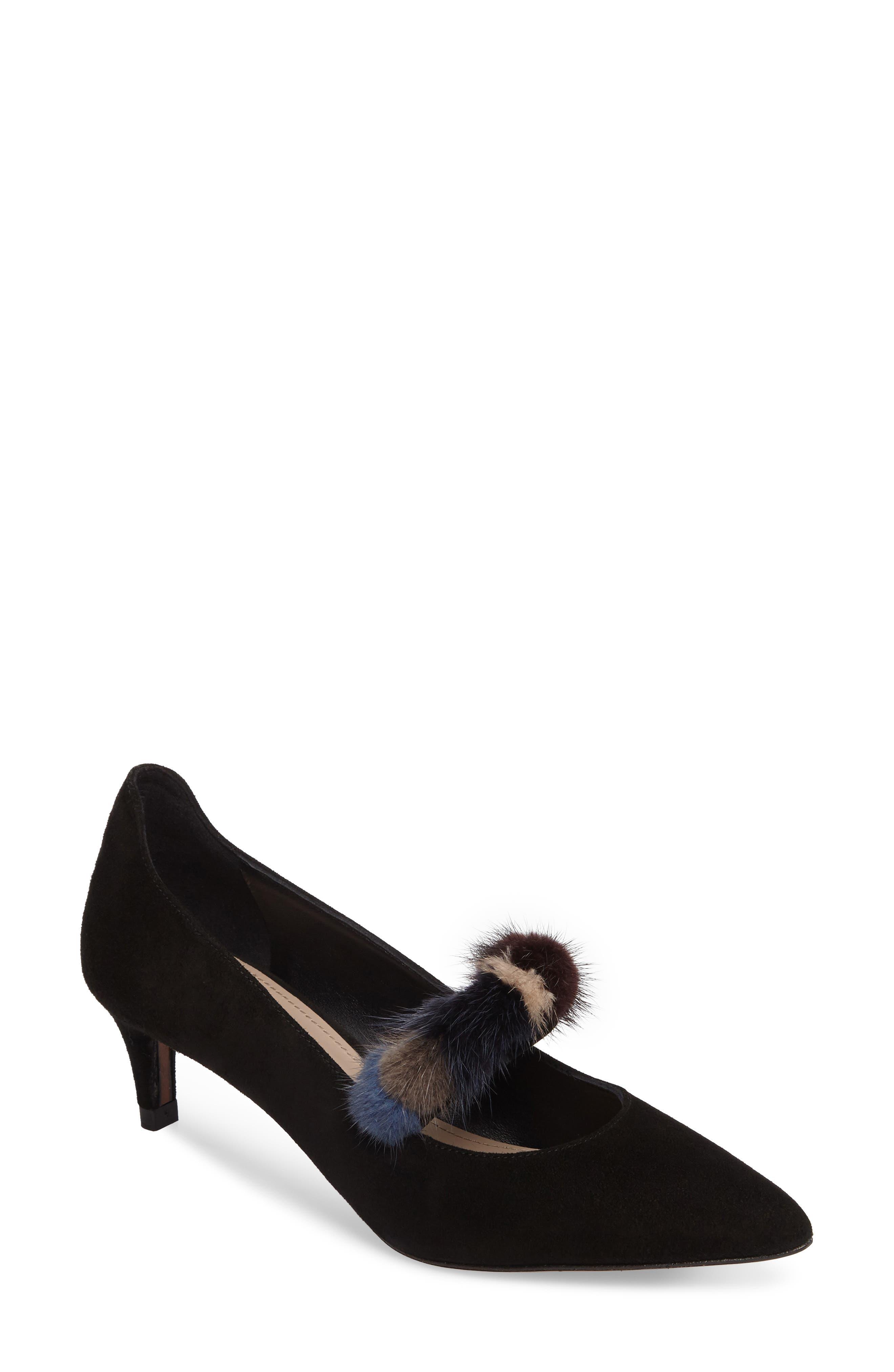 Main Image - Donald Pliner Blake Genuine Mink Fur Pump (Women)