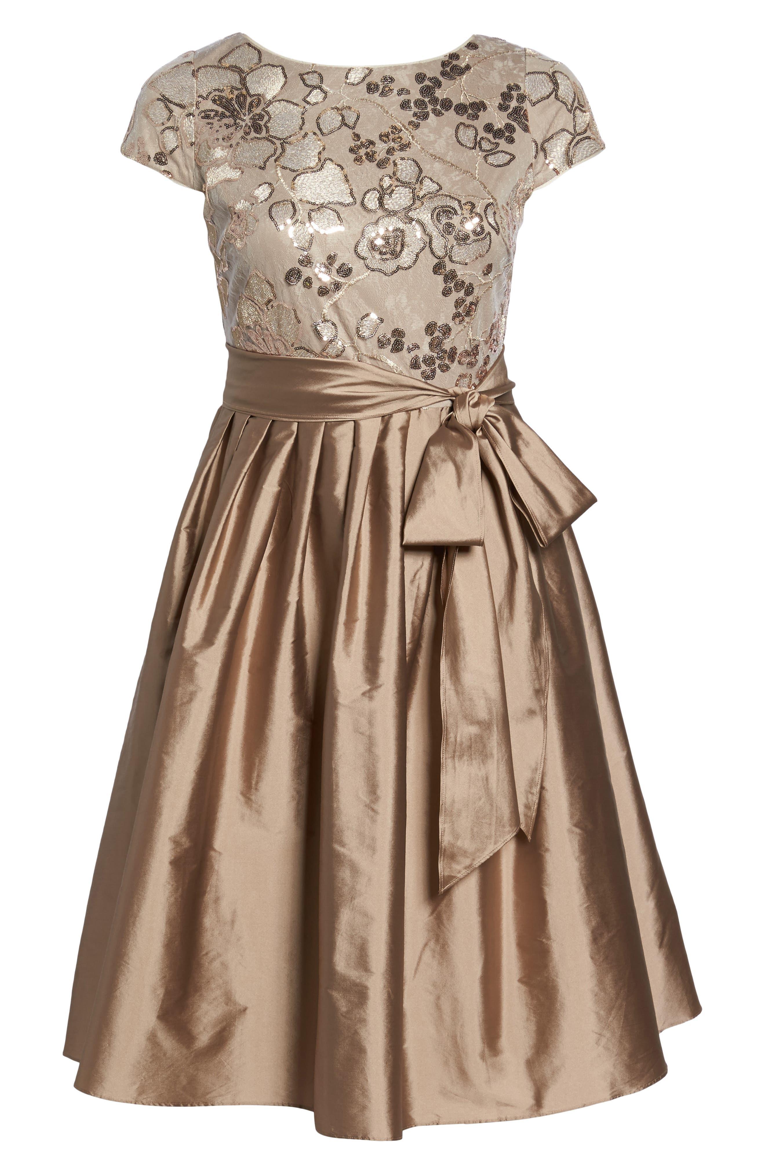 Alternate Image 6  - Adrianna Papell Embellished Bodice Party Dress (Plus Size)