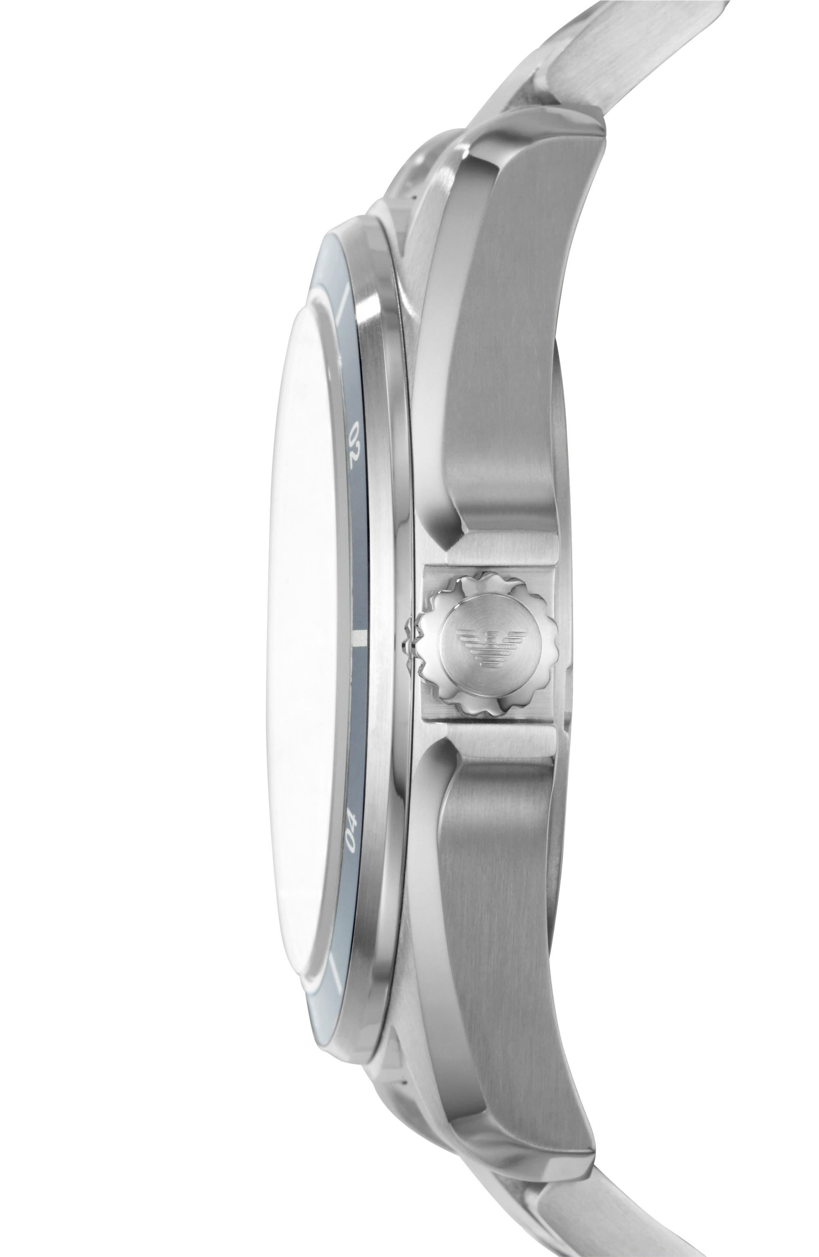 Round Bracelet Watch, 44mm,                             Alternate thumbnail 2, color,                             Silver